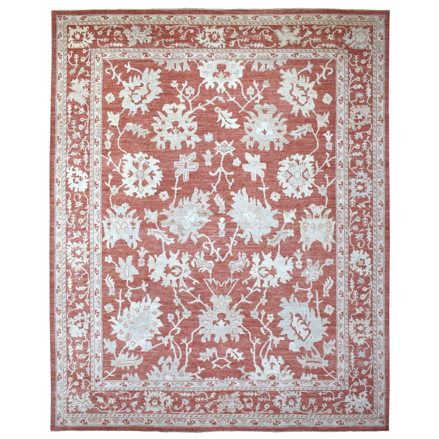 Agra And Turkish Collection Hand Knotted Red Rug No: 1136290