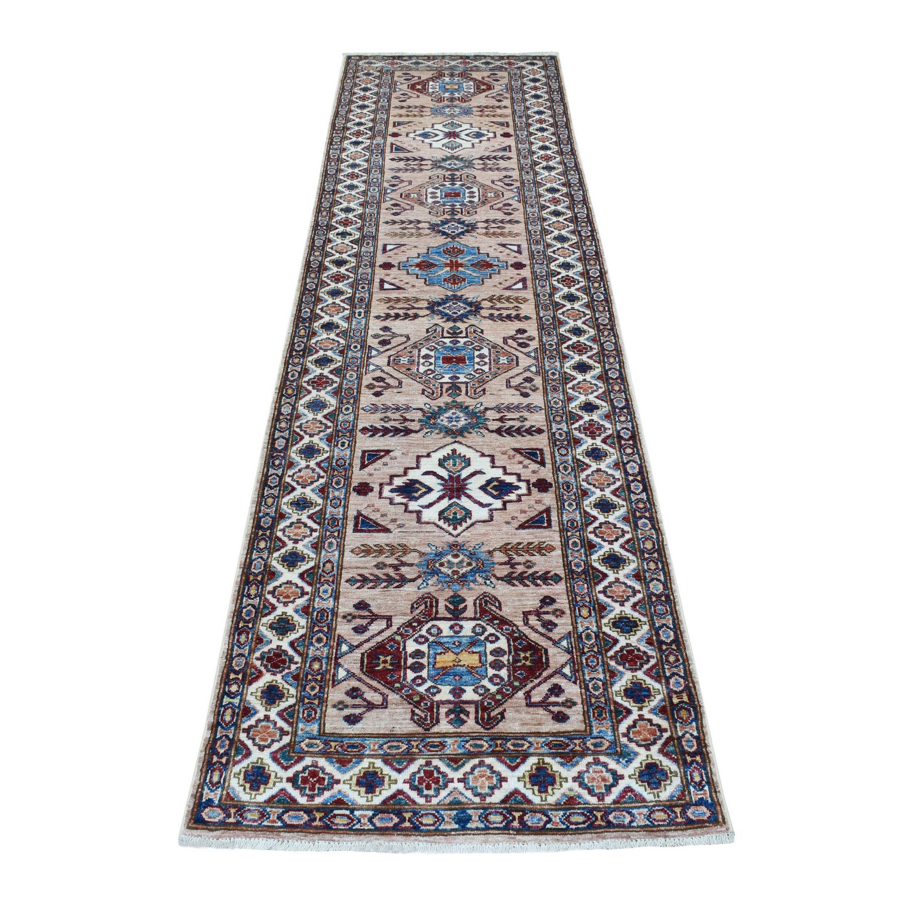 Caucasian Collection Hand Knotted Brown Rug No: 1136346