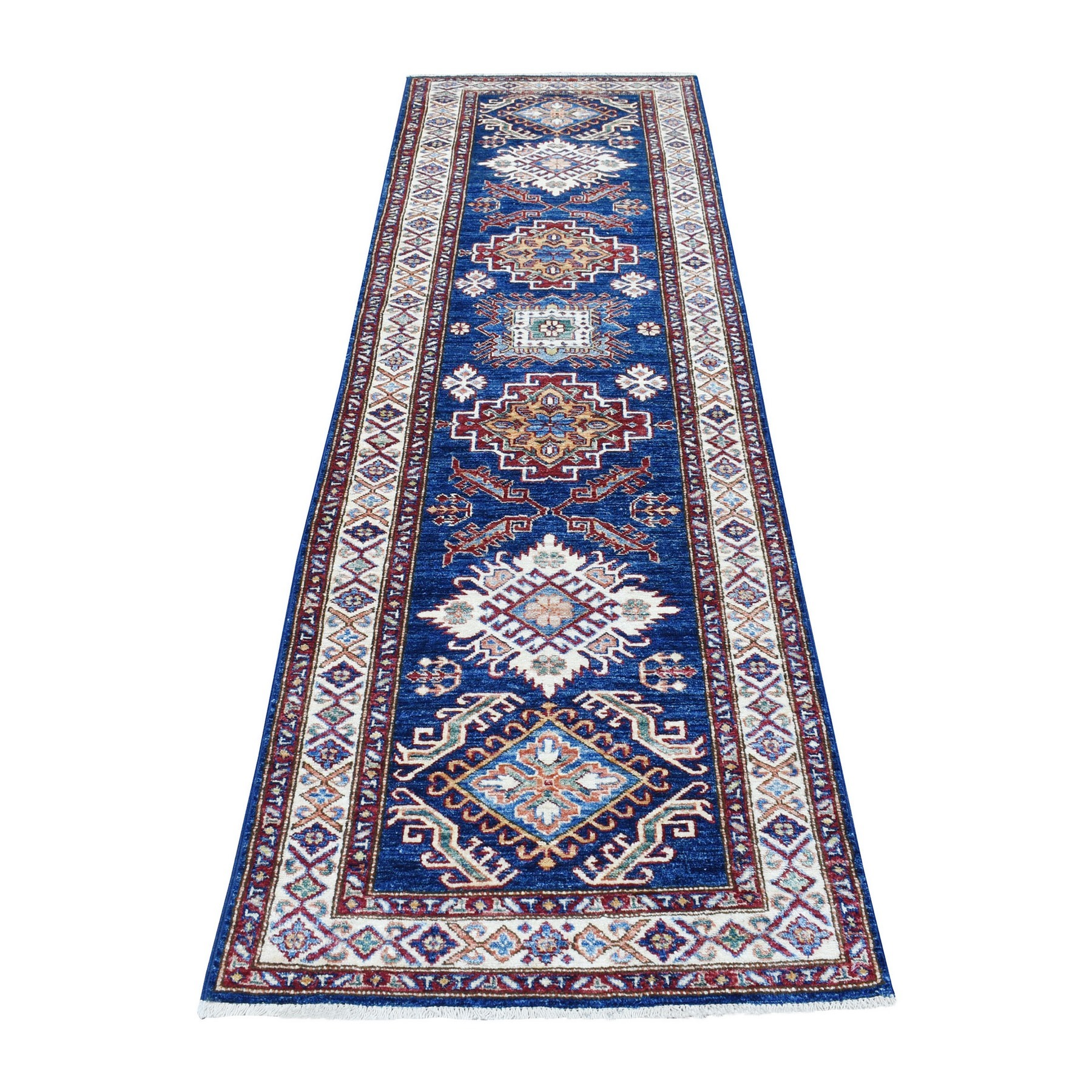 Caucasian Collection Hand Knotted Blue Rug No: 1136348