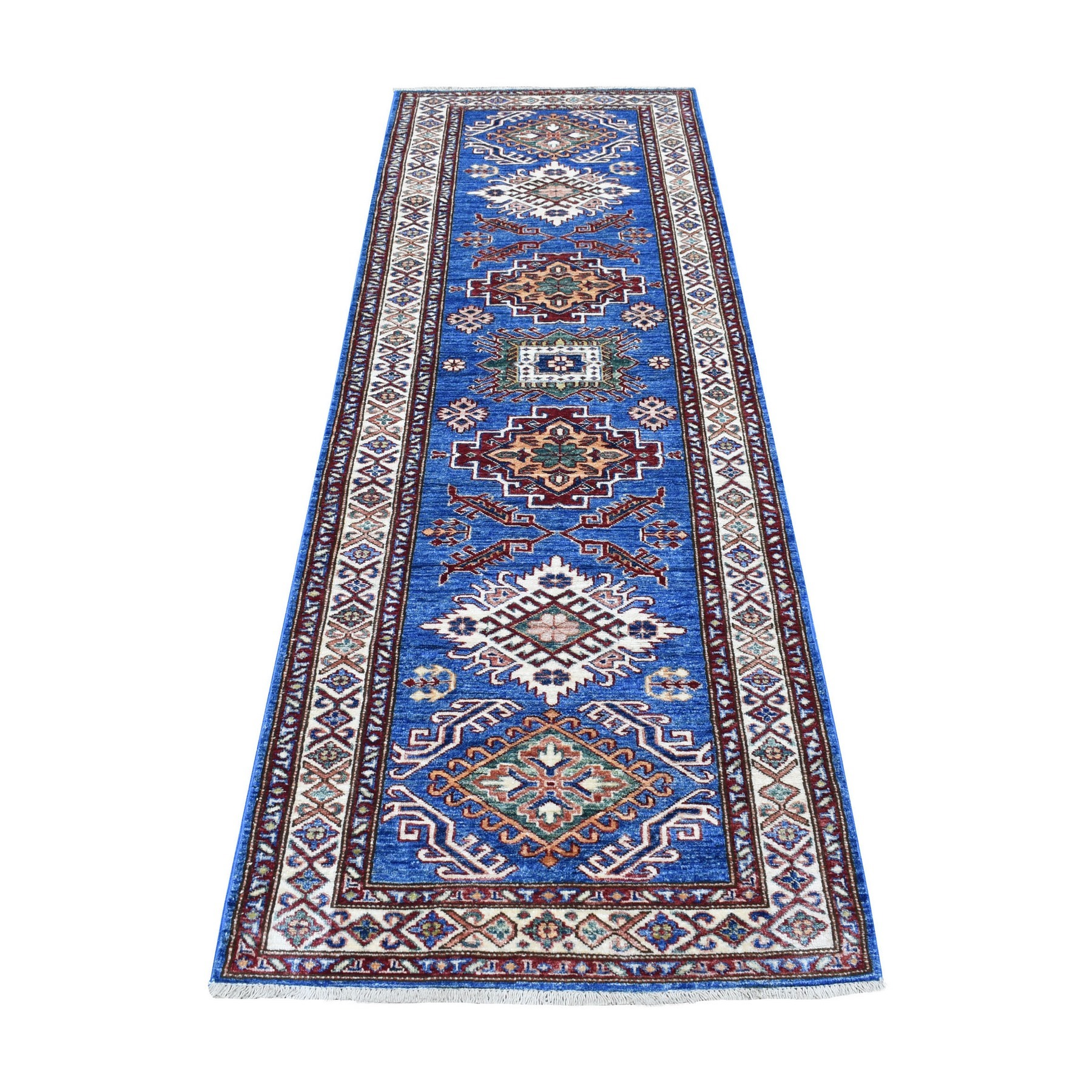 Caucasian Collection Hand Knotted Blue Rug No: 1136364
