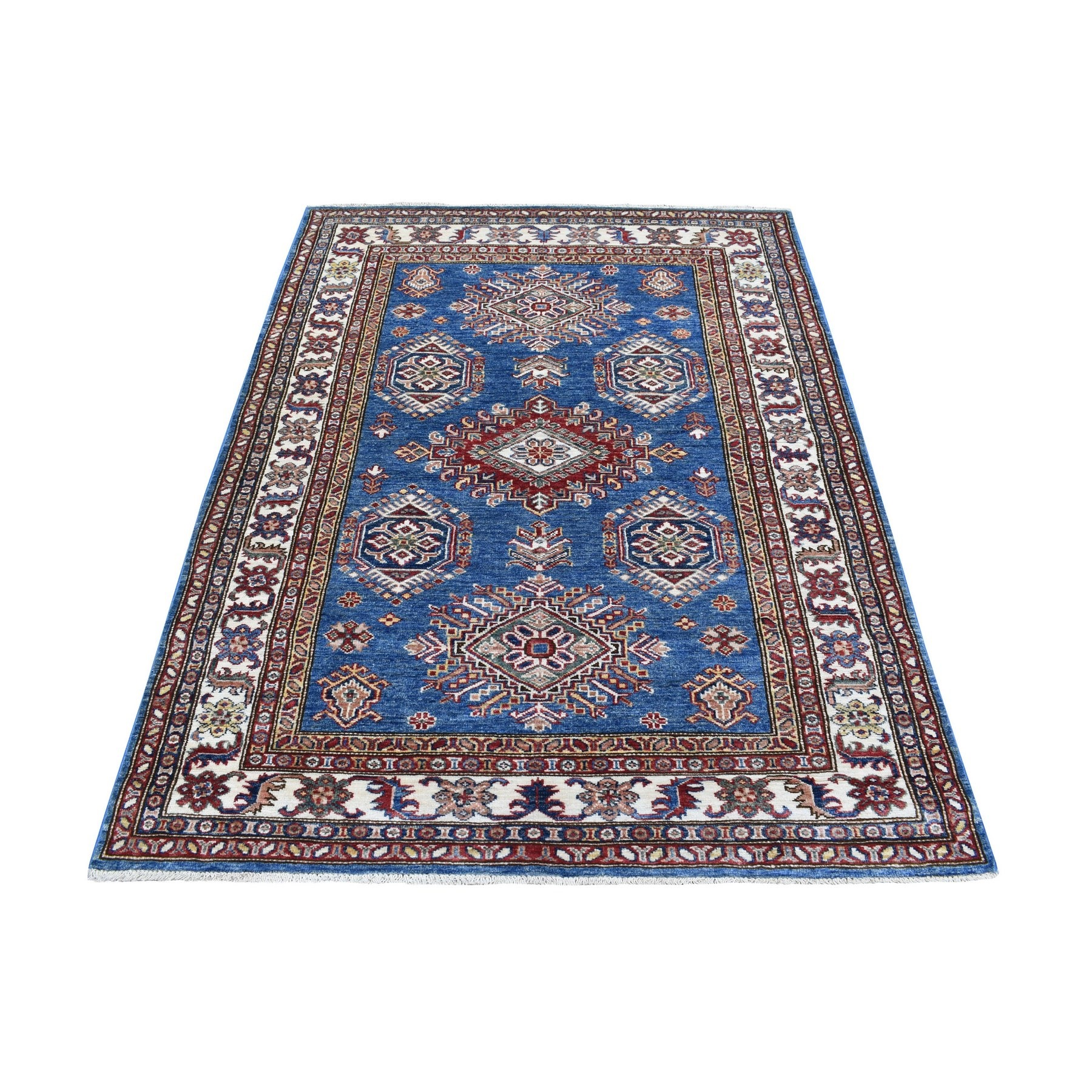 Caucasian Collection Hand Knotted Blue Rug No: 1136378