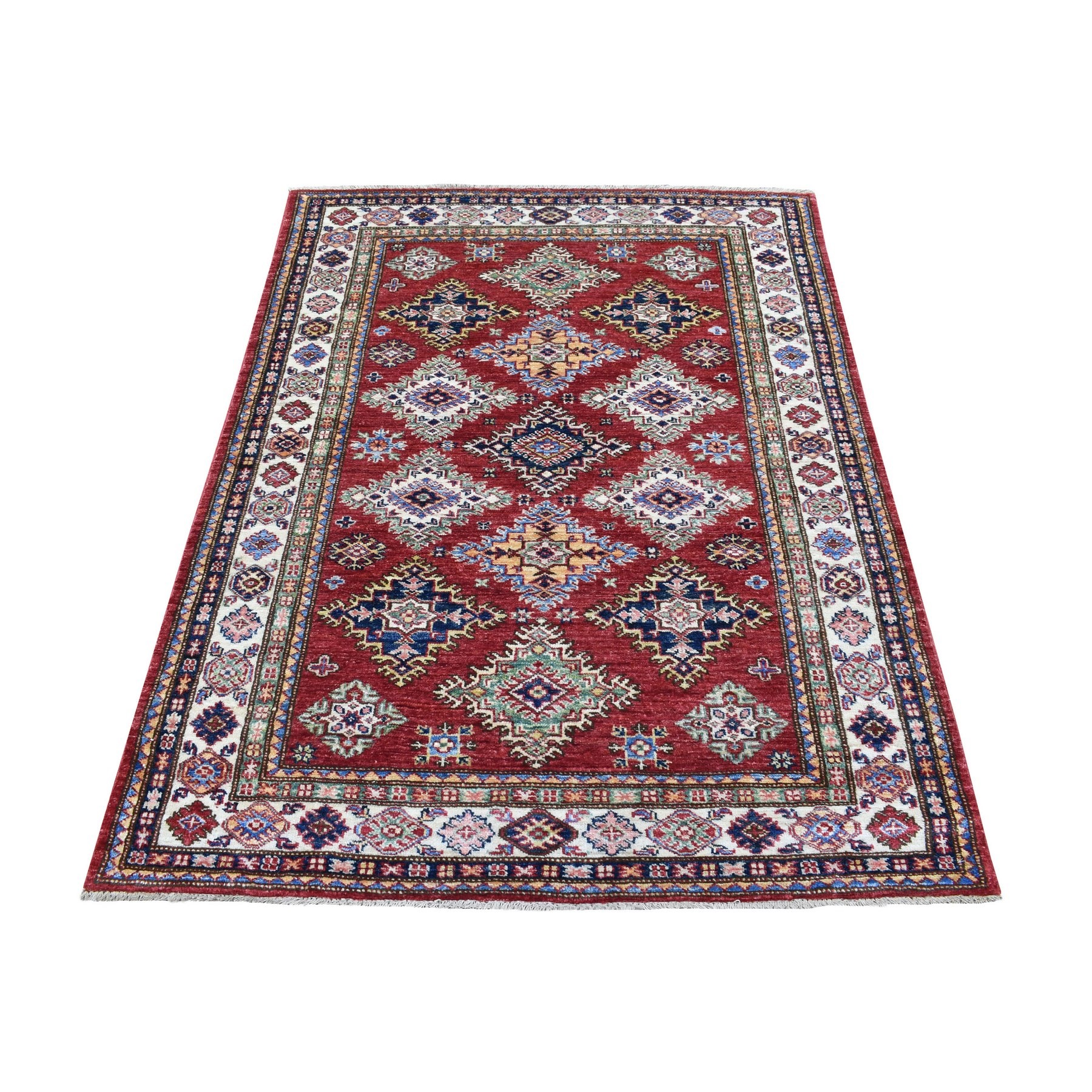 Caucasian Collection Hand Knotted Red Rug No: 1136380