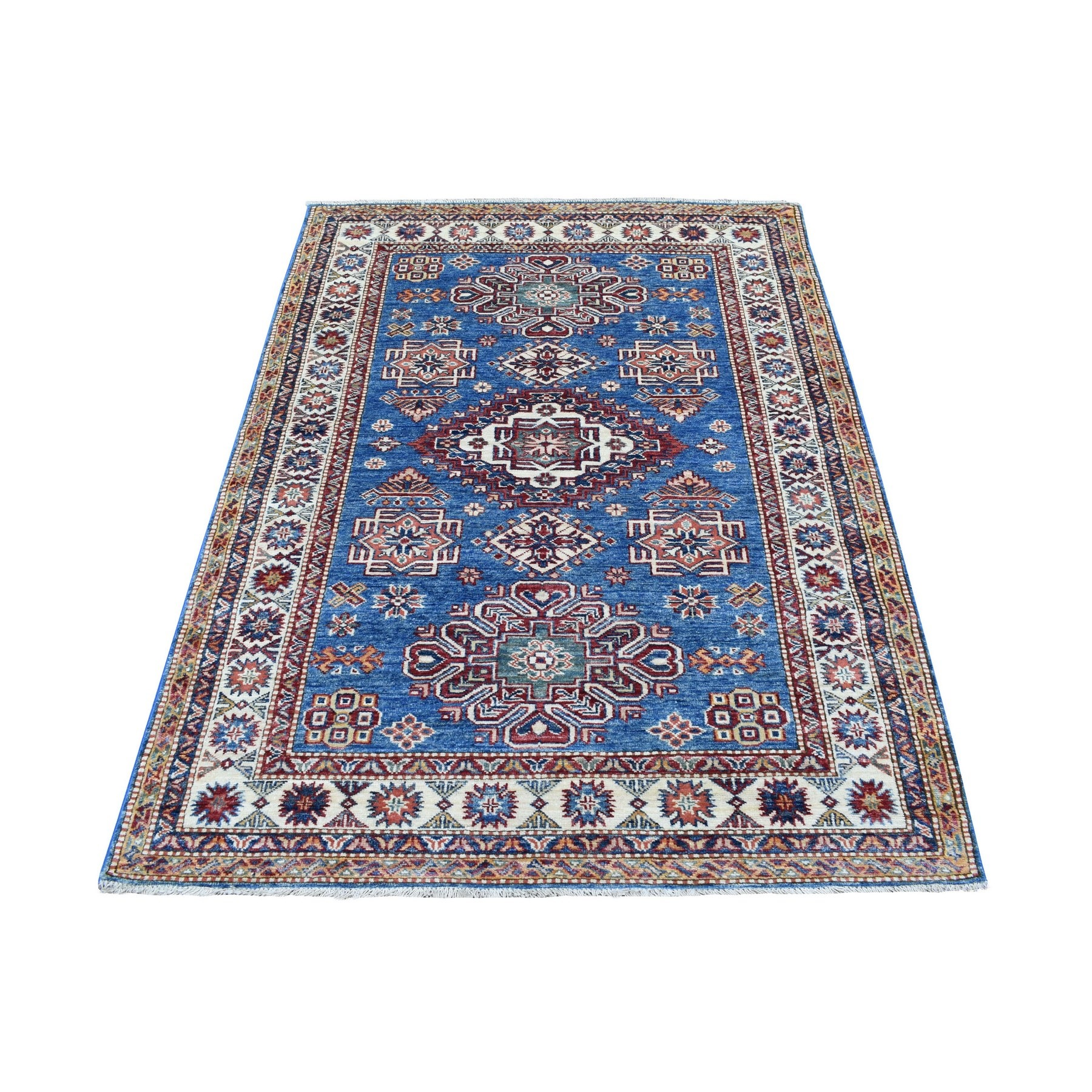 Caucasian Collection Hand Knotted Blue Rug No: 1136382