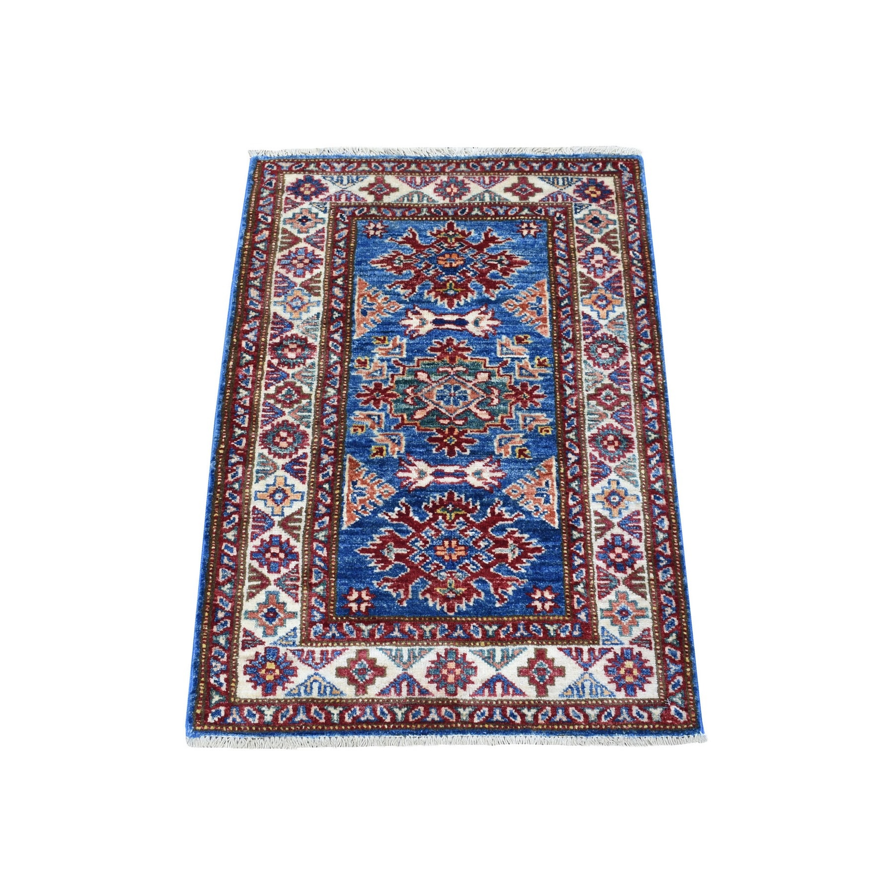 Caucasian Collection Hand Knotted Blue Rug No: 1136396