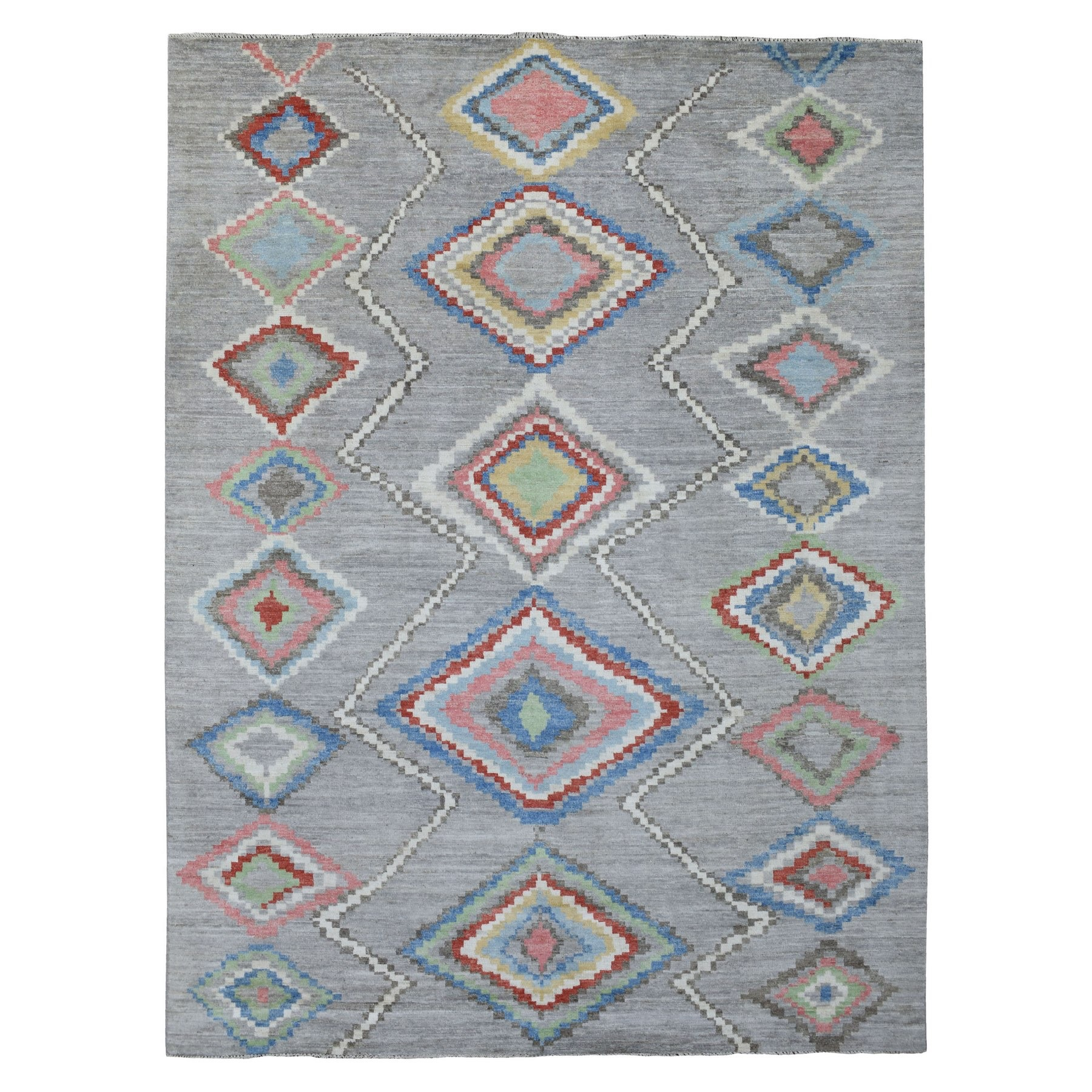 Nomadic And Village Collection Hand Knotted Grey Rug No: 1136438