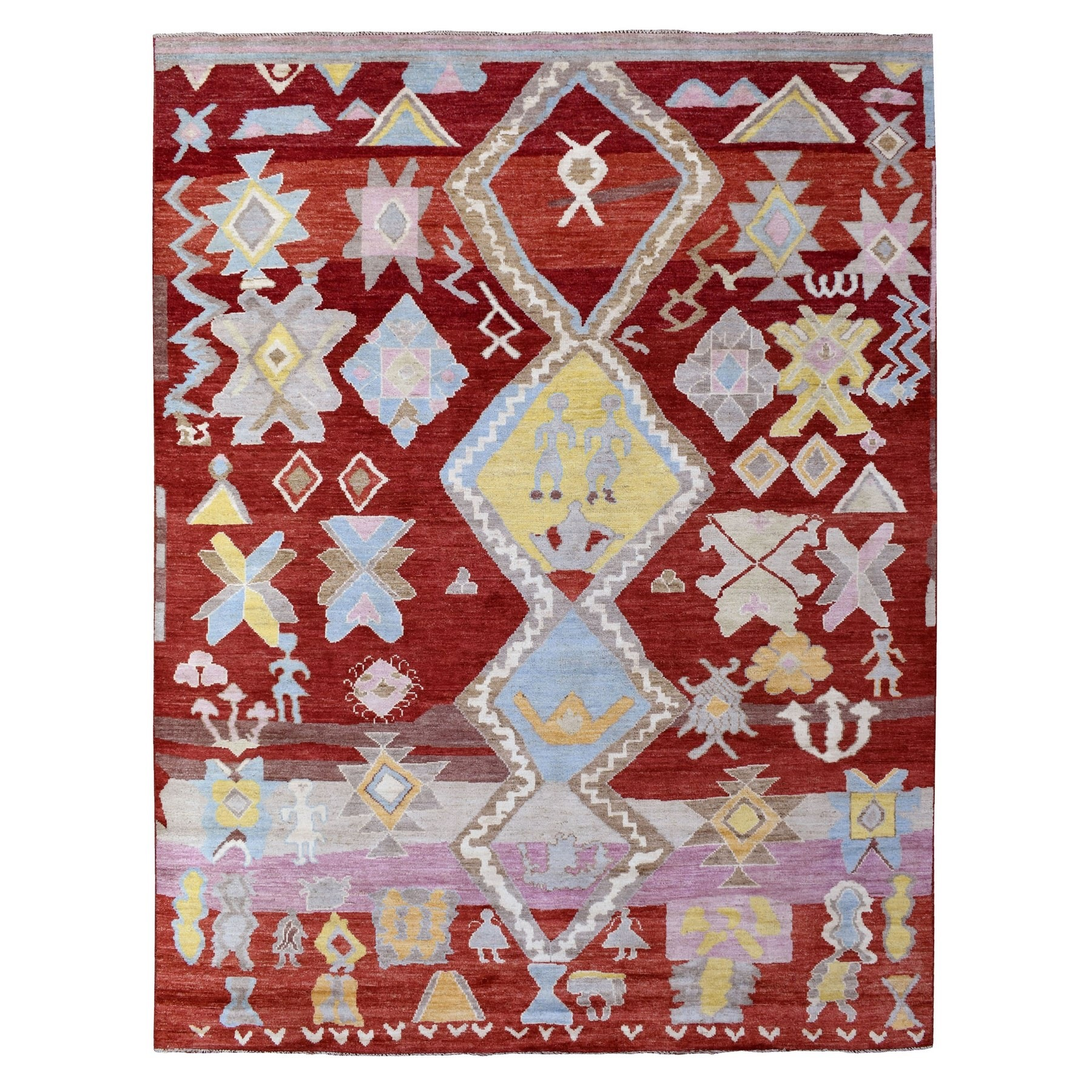 Nomadic And Village Collection Hand Knotted Red Rug No: 1136440