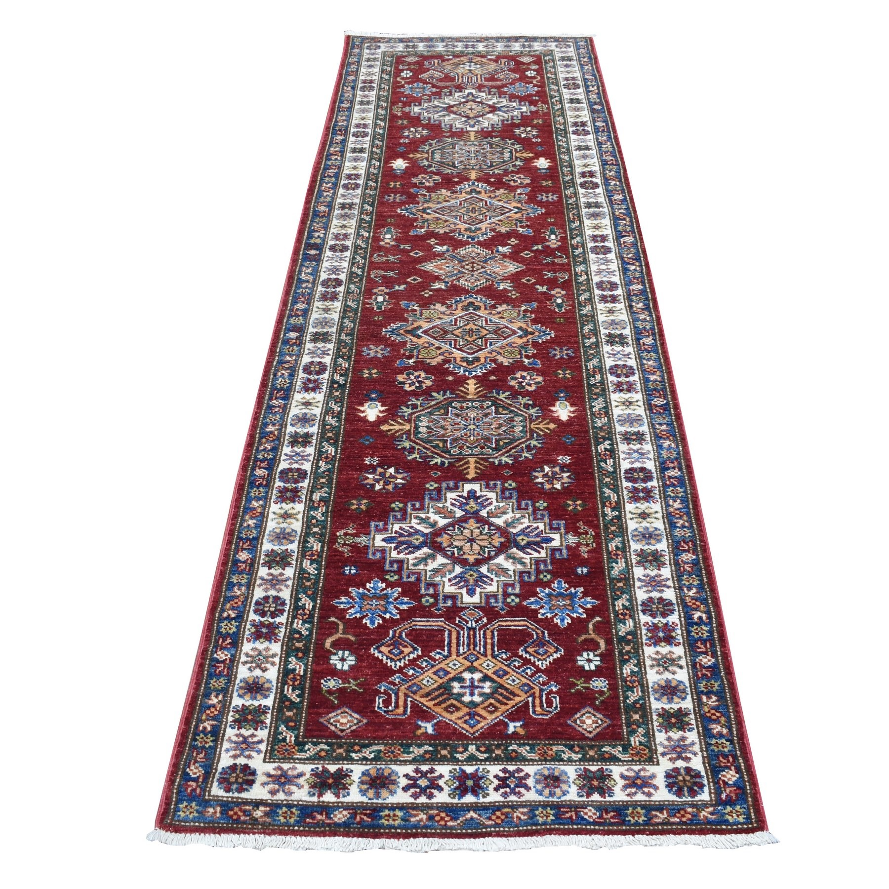 Caucasian Collection Hand Knotted Red Rug No: 1136554
