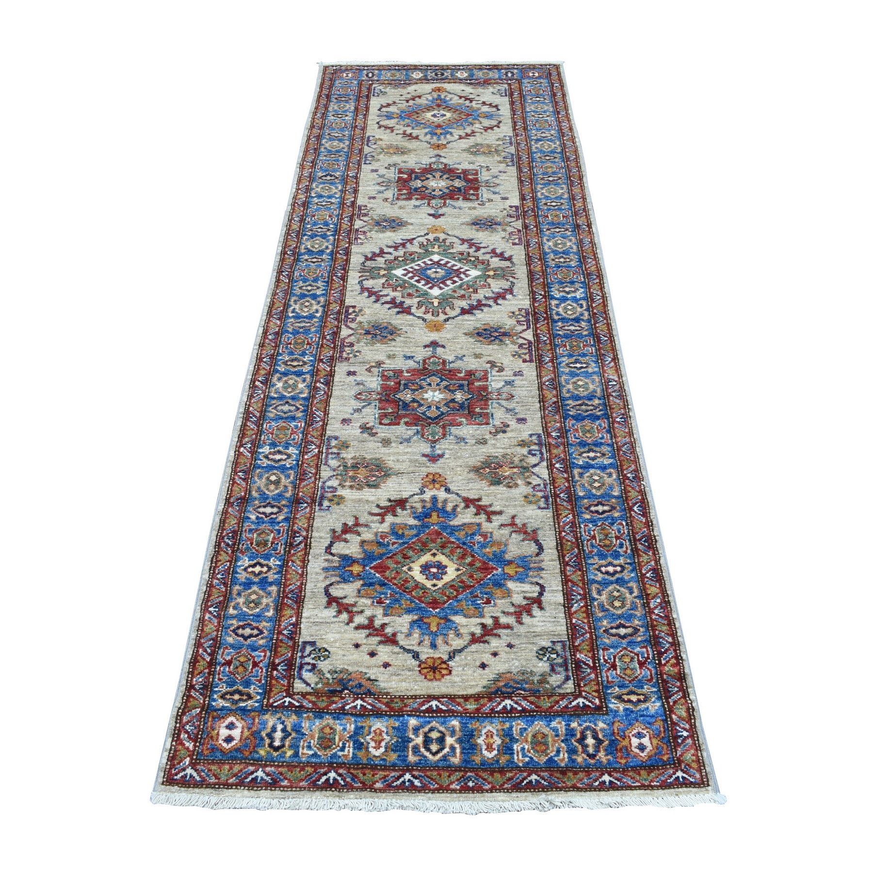 Caucasian Collection Hand Knotted Brown Rug No: 1136556