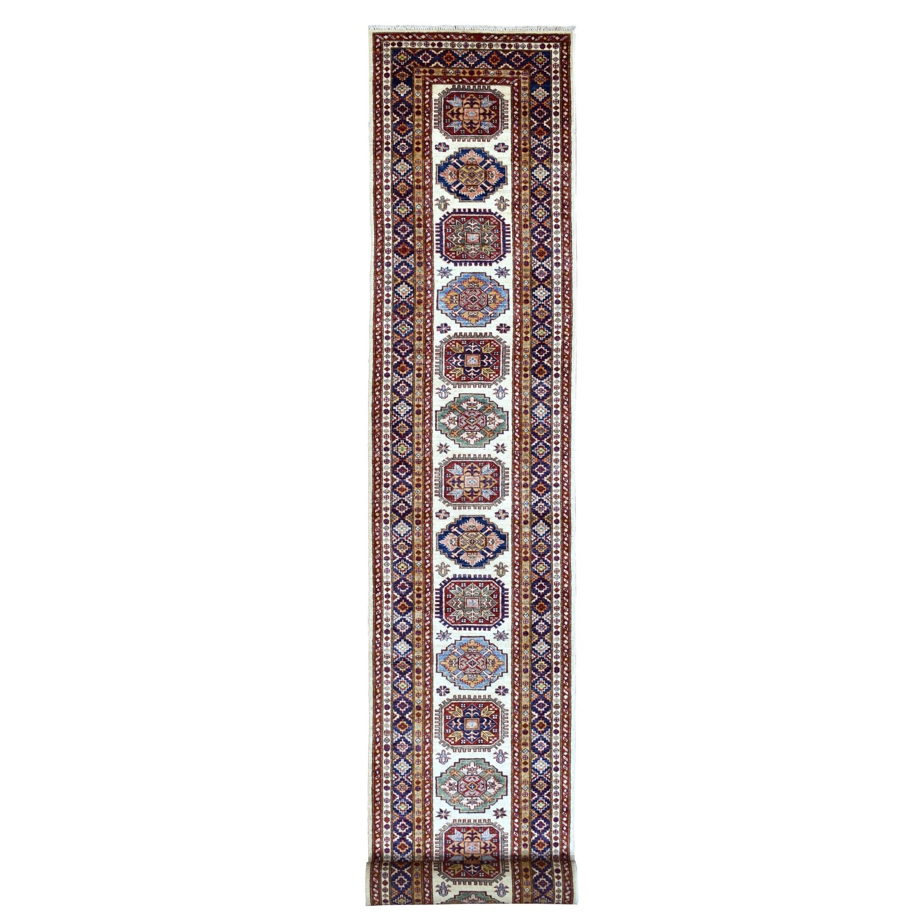 Caucasian Collection Hand Knotted Ivory Rug No: 1136564