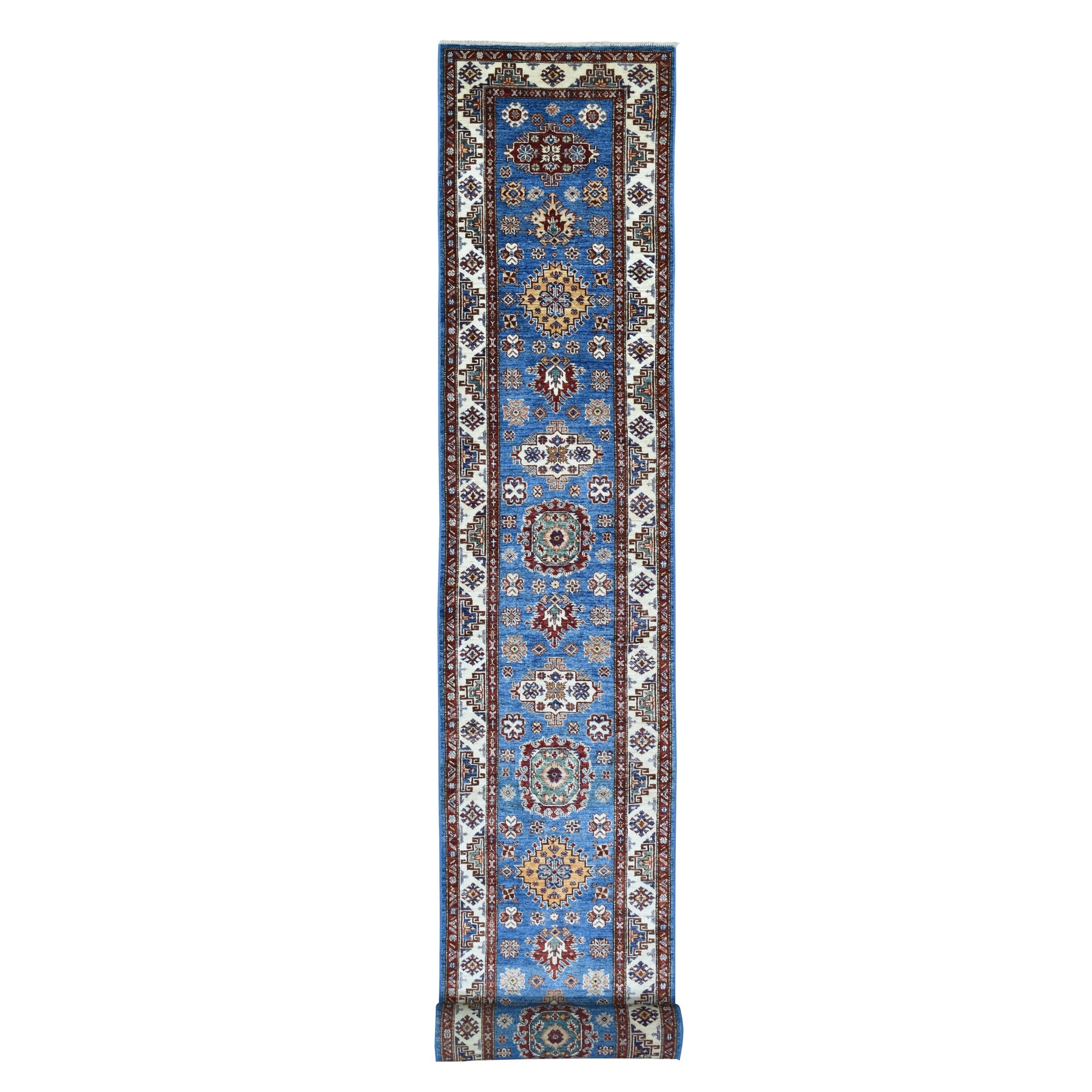 Caucasian Collection Hand Knotted Blue Rug No: 1136566