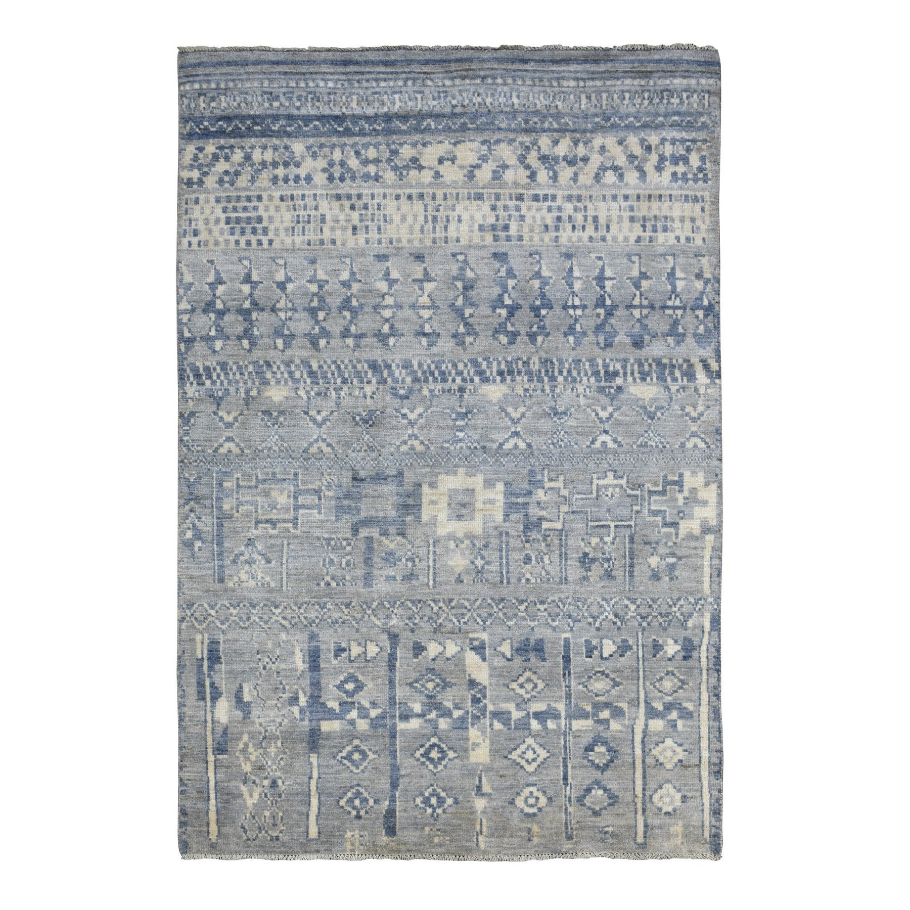Nomadic And Village Collection Hand Knotted Grey Rug No: 1136602