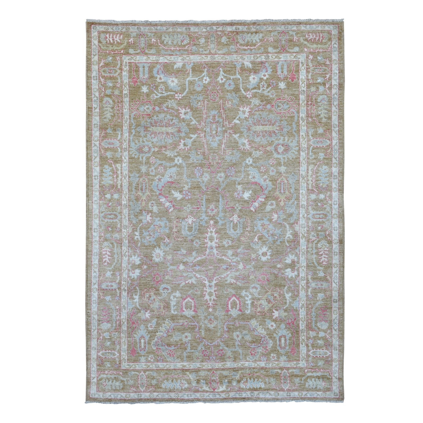 Agra And Turkish Collection Hand Knotted Brown Rug No: 1136612