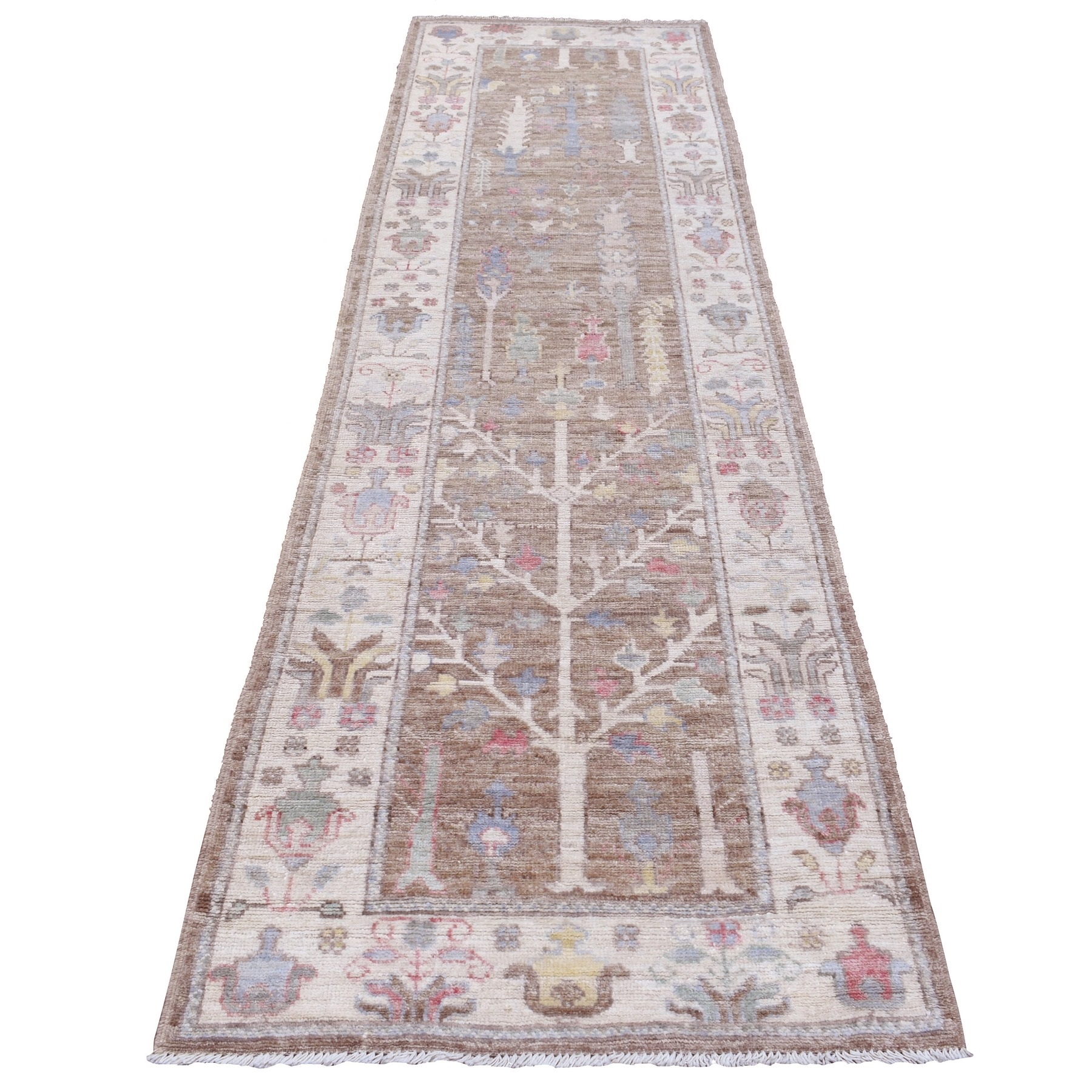 Agra And Turkish Collection Hand Knotted Brown Rug No: 1136624
