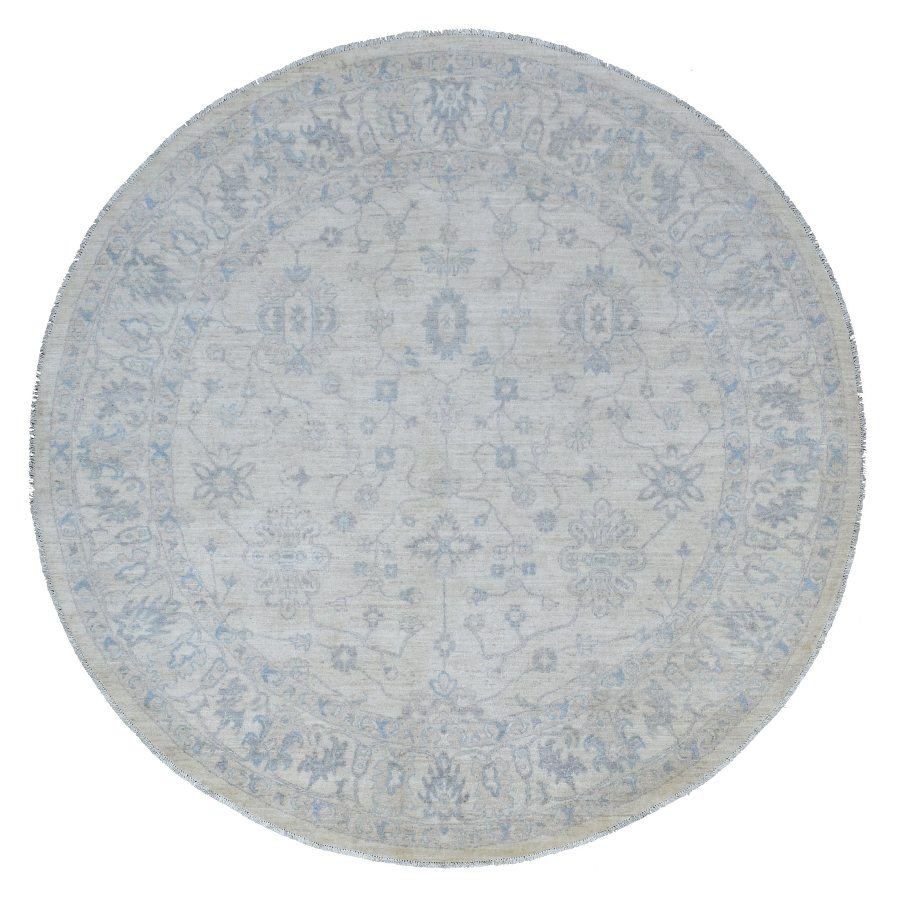 Agra And Turkish Collection Hand Knotted Ivory Rug No: 1136656