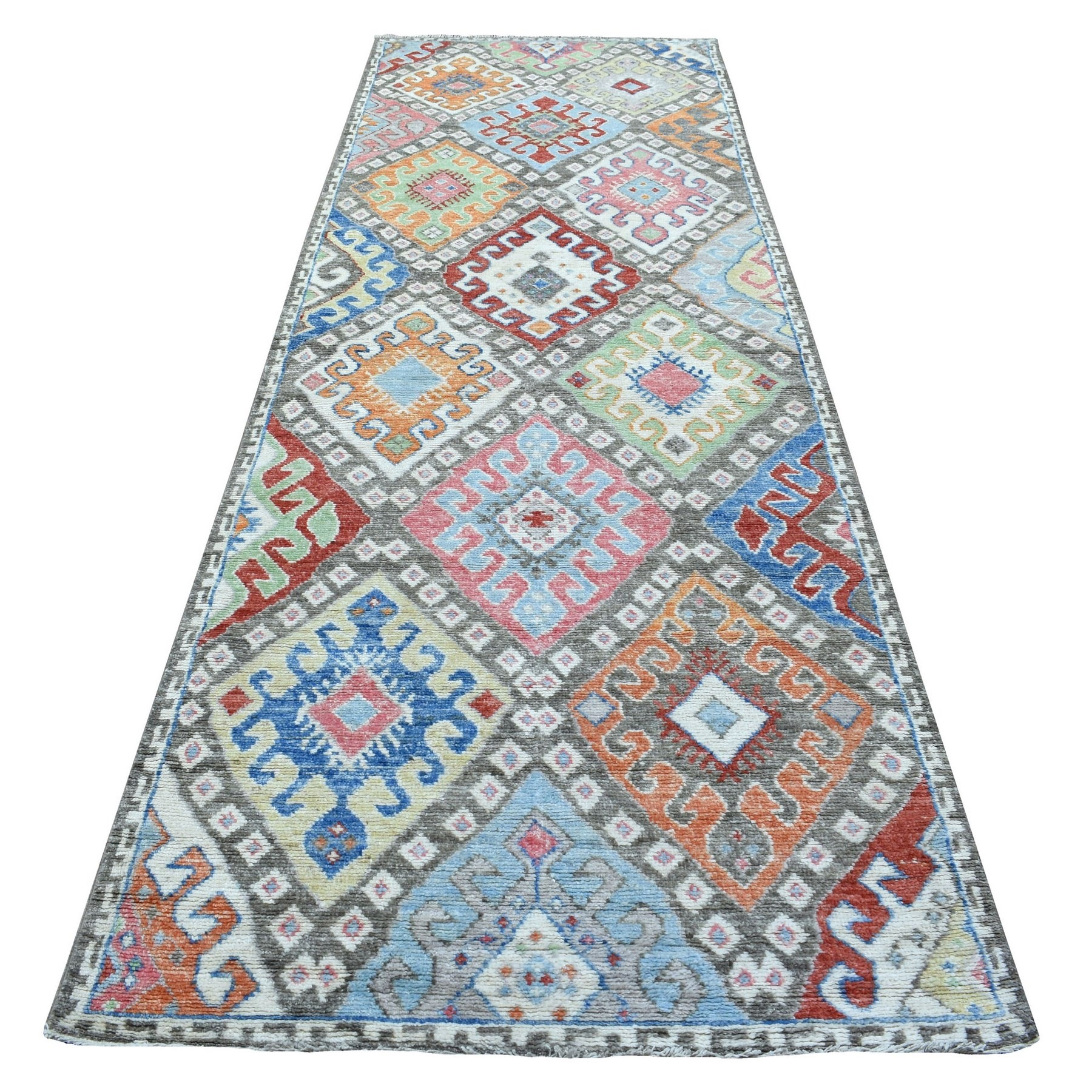 Nomadic And Village Collection Hand Knotted Grey Rug No: 1136670