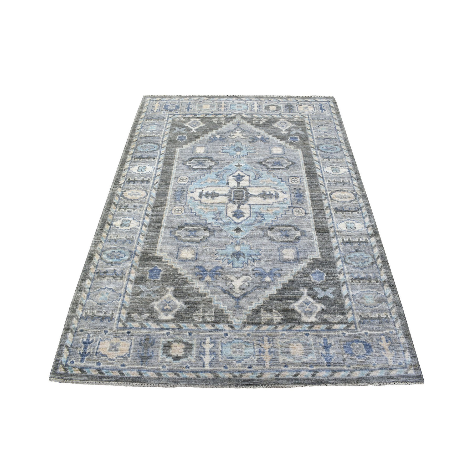 Nomadic And Village Collection Hand Knotted Grey Rug No: 1136672