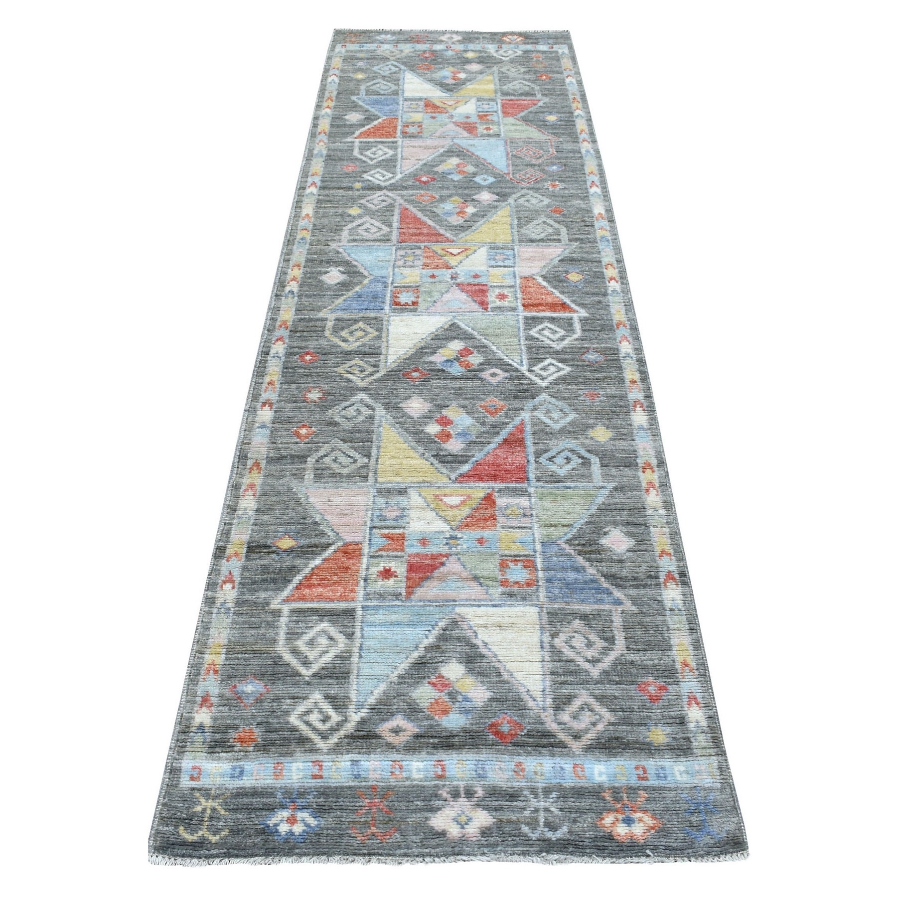 Nomadic And Village Collection Hand Knotted Grey Rug No: 1136674