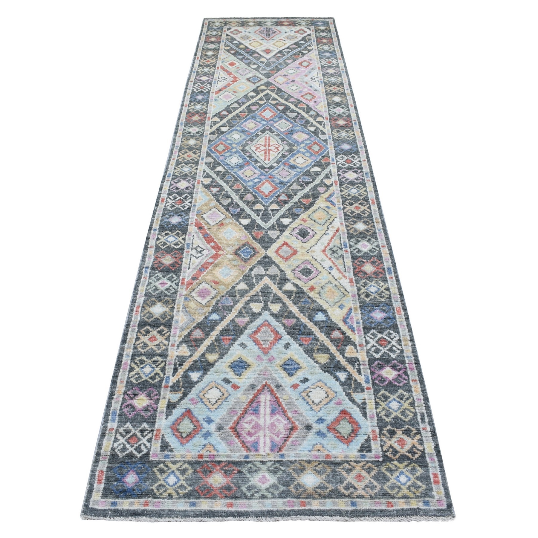 Nomadic And Village Collection Hand Knotted Grey Rug No: 1136680