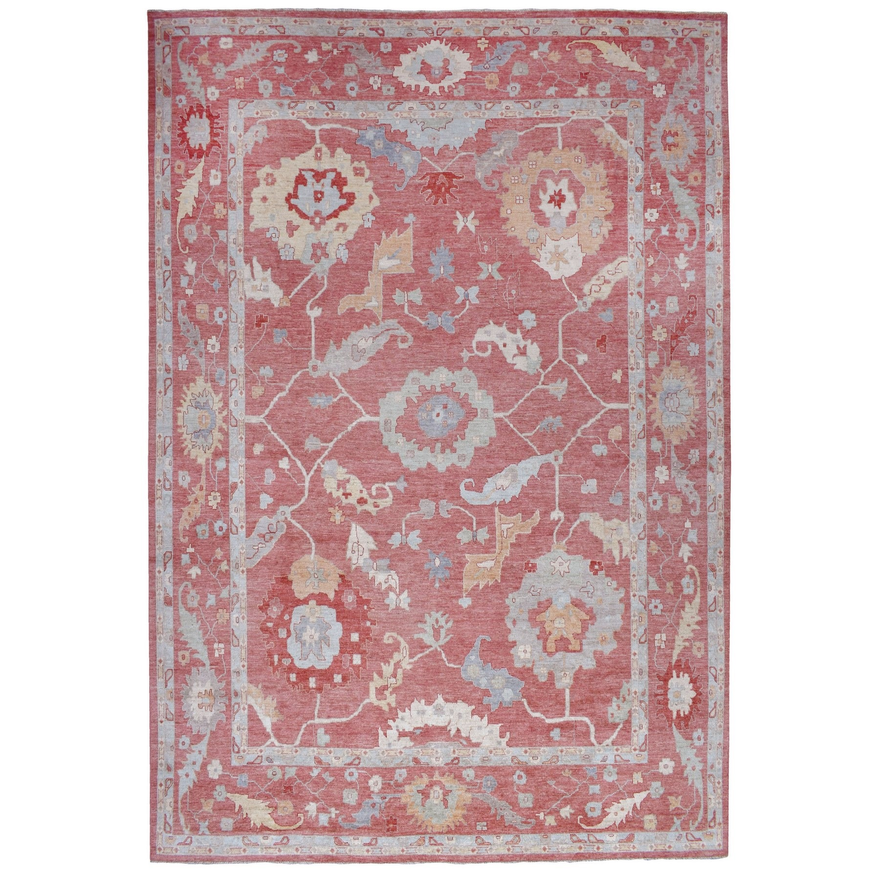 Agra And Turkish Collection Hand Knotted Red Rug No: 1136694