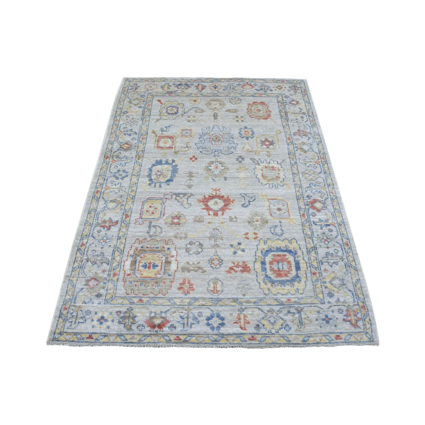 Agra And Turkish Collection Hand Knotted Grey Rug No: 1136738