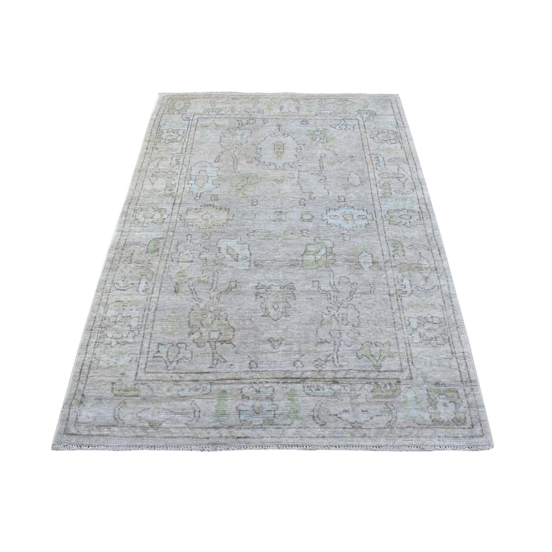 Agra And Turkish Collection Hand Knotted Grey Rug No: 1136740