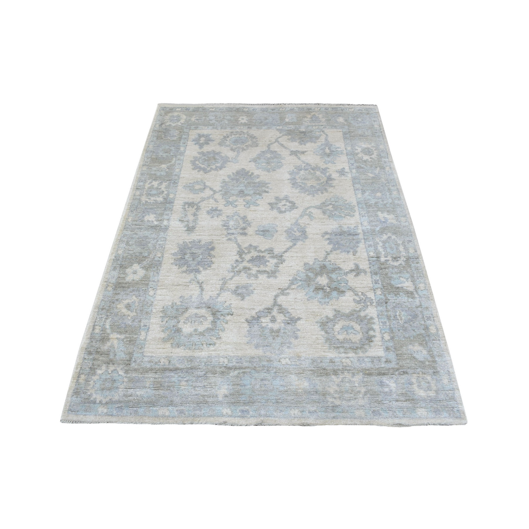 Agra And Turkish Collection Hand Knotted Ivory Rug No: 1136750