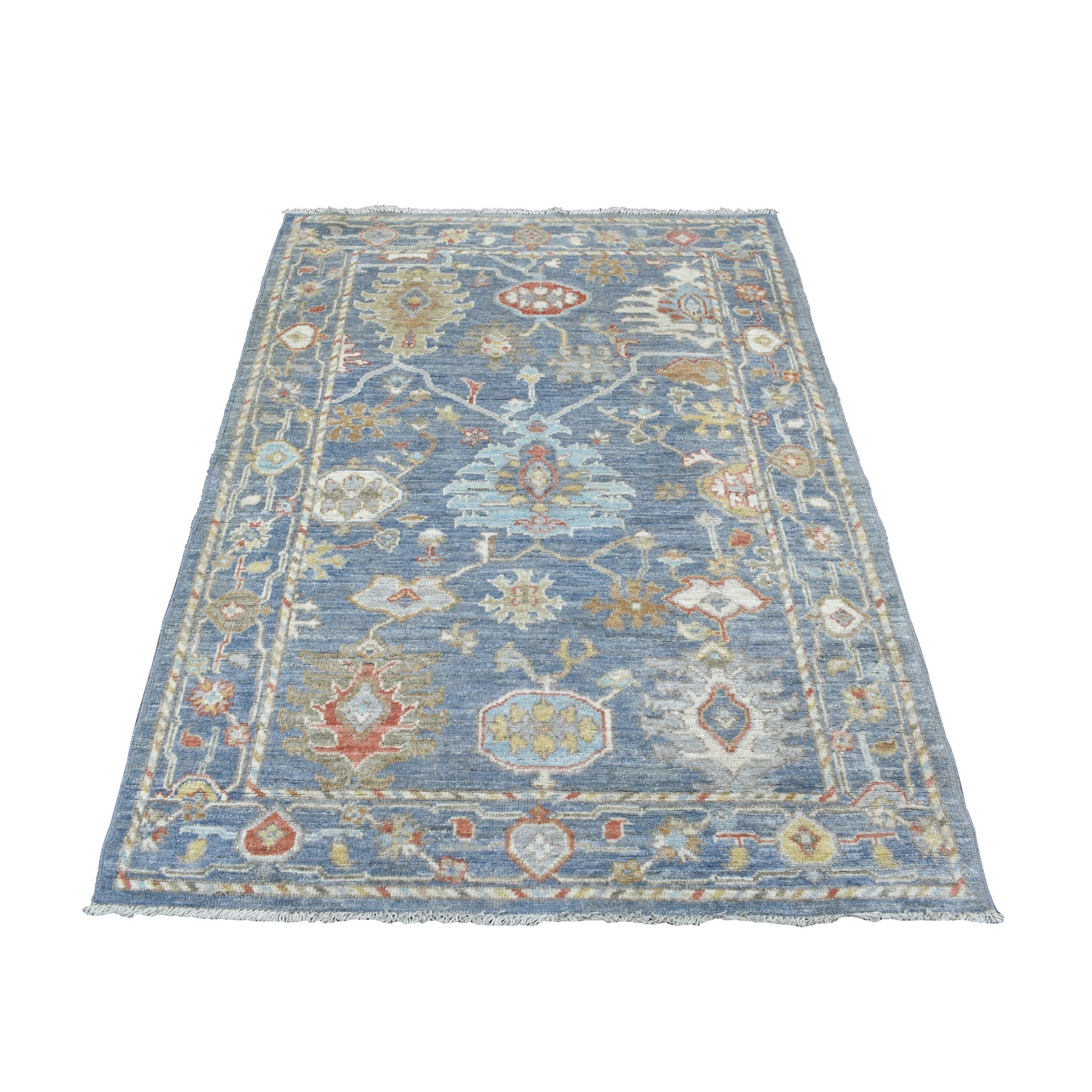 Agra And Turkish Collection Hand Knotted Blue Rug No: 1136752