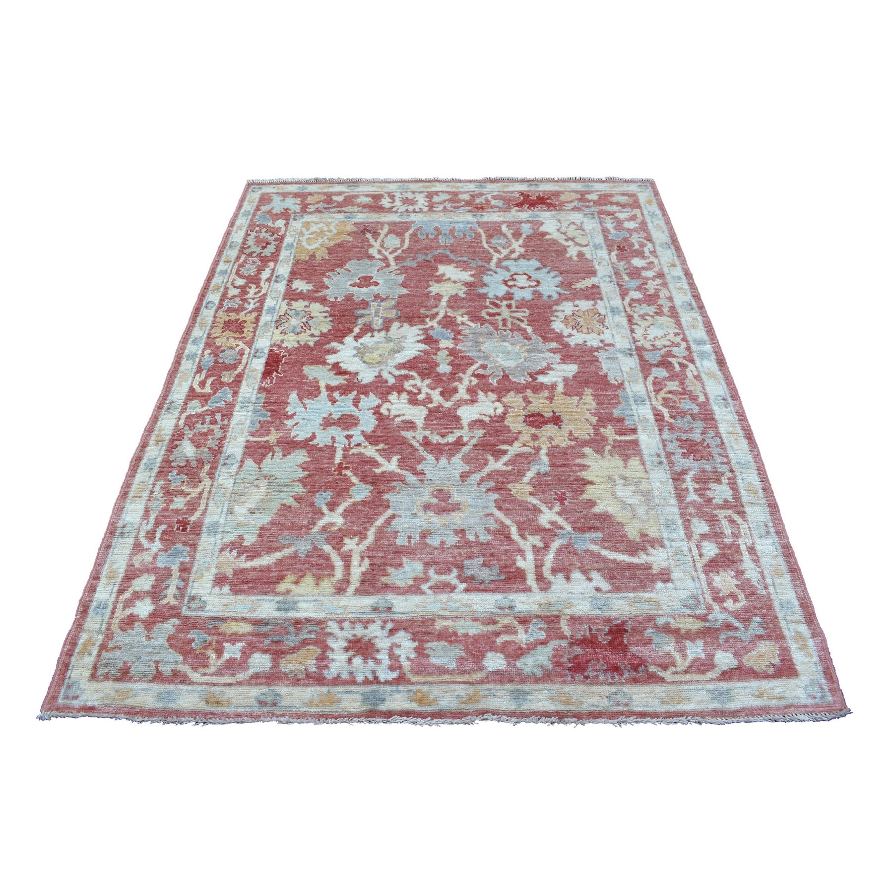 Agra And Turkish Collection Hand Knotted Red Rug No: 1136766