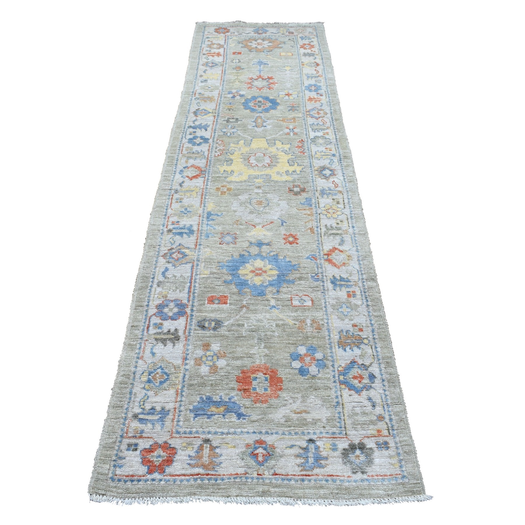 Agra And Turkish Collection Hand Knotted Grey Rug No: 1136776