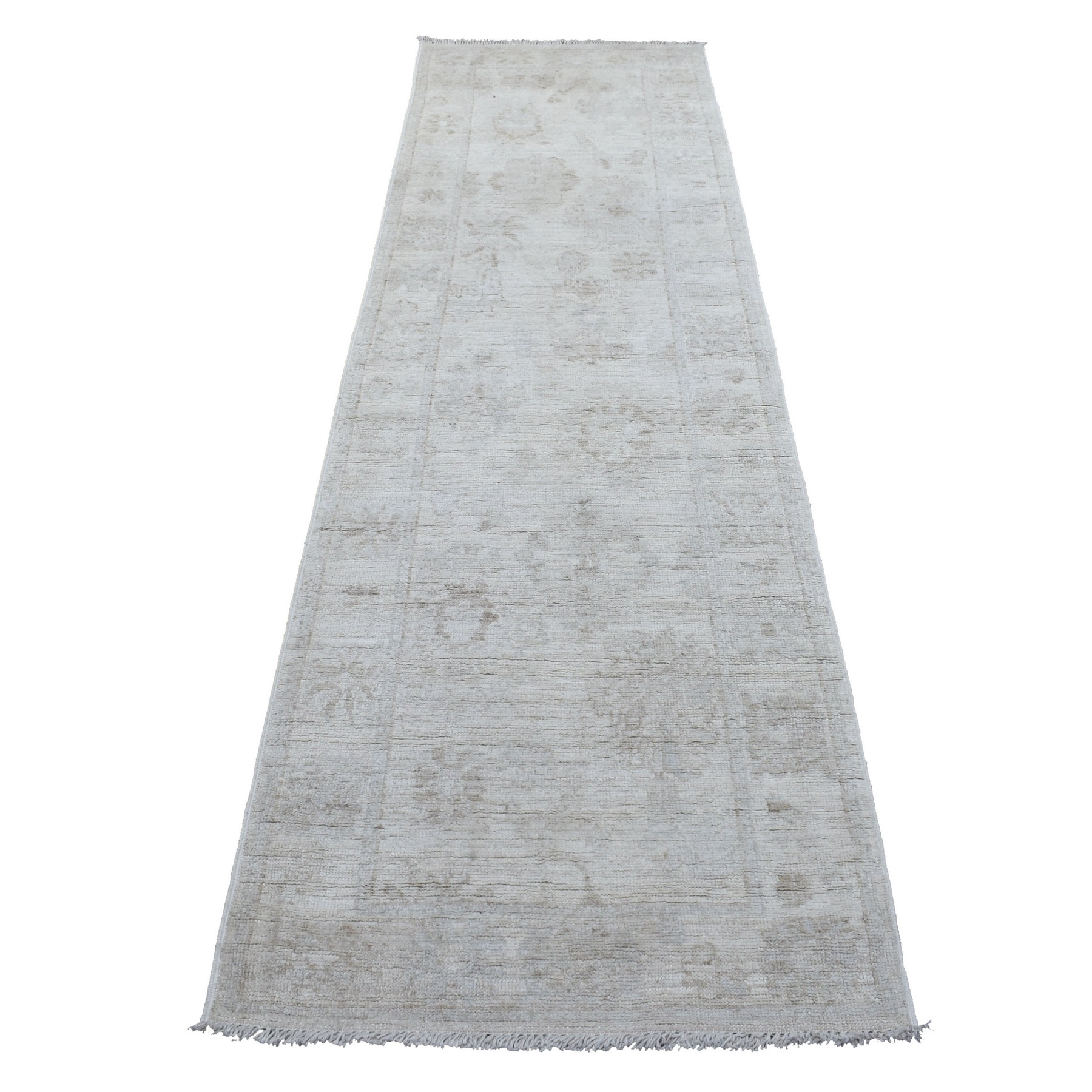 Agra And Turkish Collection Hand Knotted Ivory Rug No: 1136782