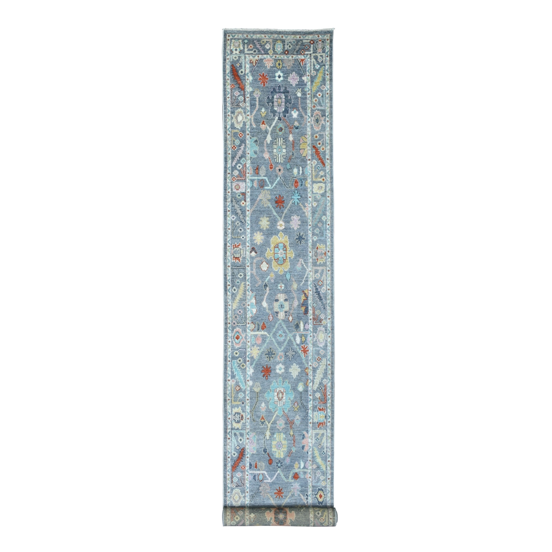 Agra And Turkish Collection Hand Knotted Grey Rug No: 1136784