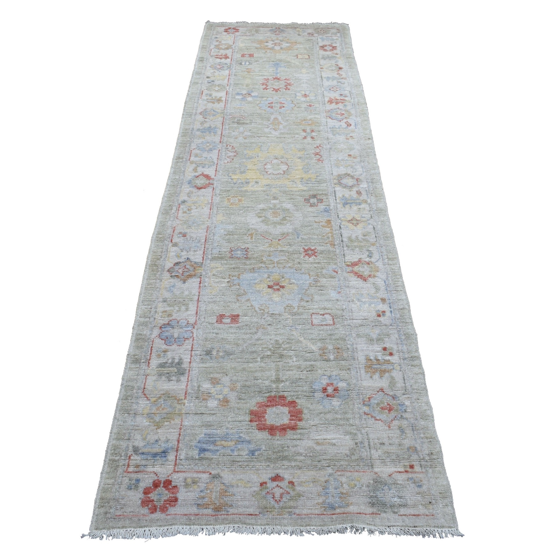 Agra And Turkish Collection Hand Knotted Grey Rug No: 1136786