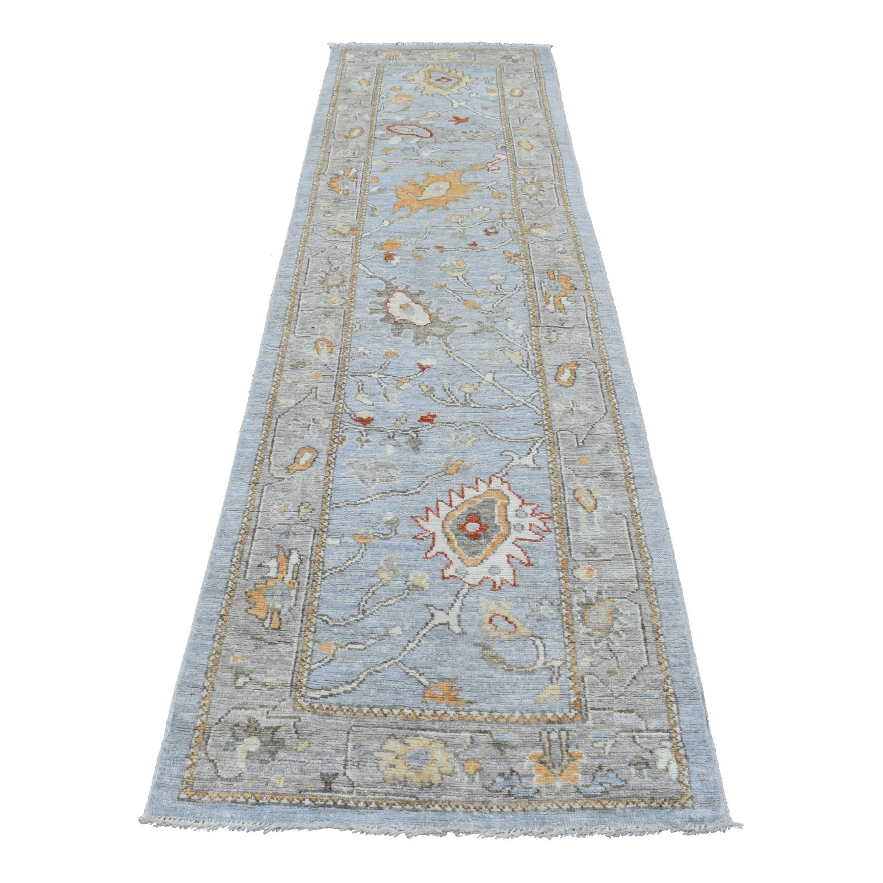 Agra And Turkish Collection Hand Knotted Grey Rug No: 1136788