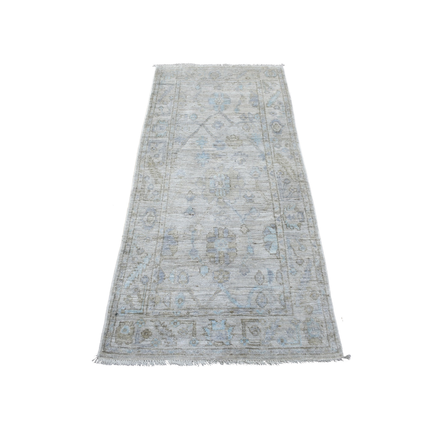 Agra And Turkish Collection Hand Knotted Grey Rug No: 1136790