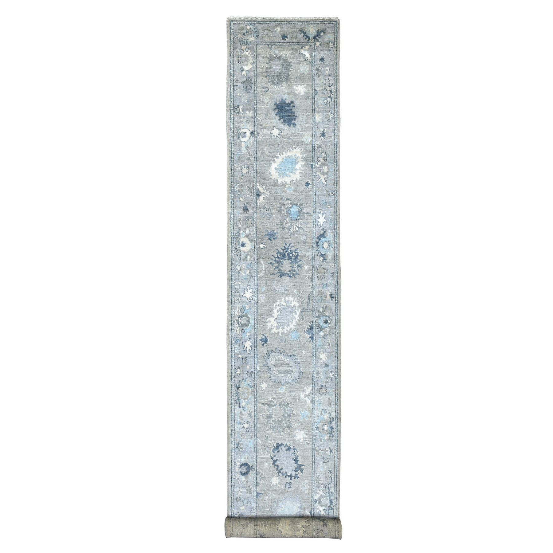 Agra And Turkish Collection Hand Knotted Grey Rug No: 1136796