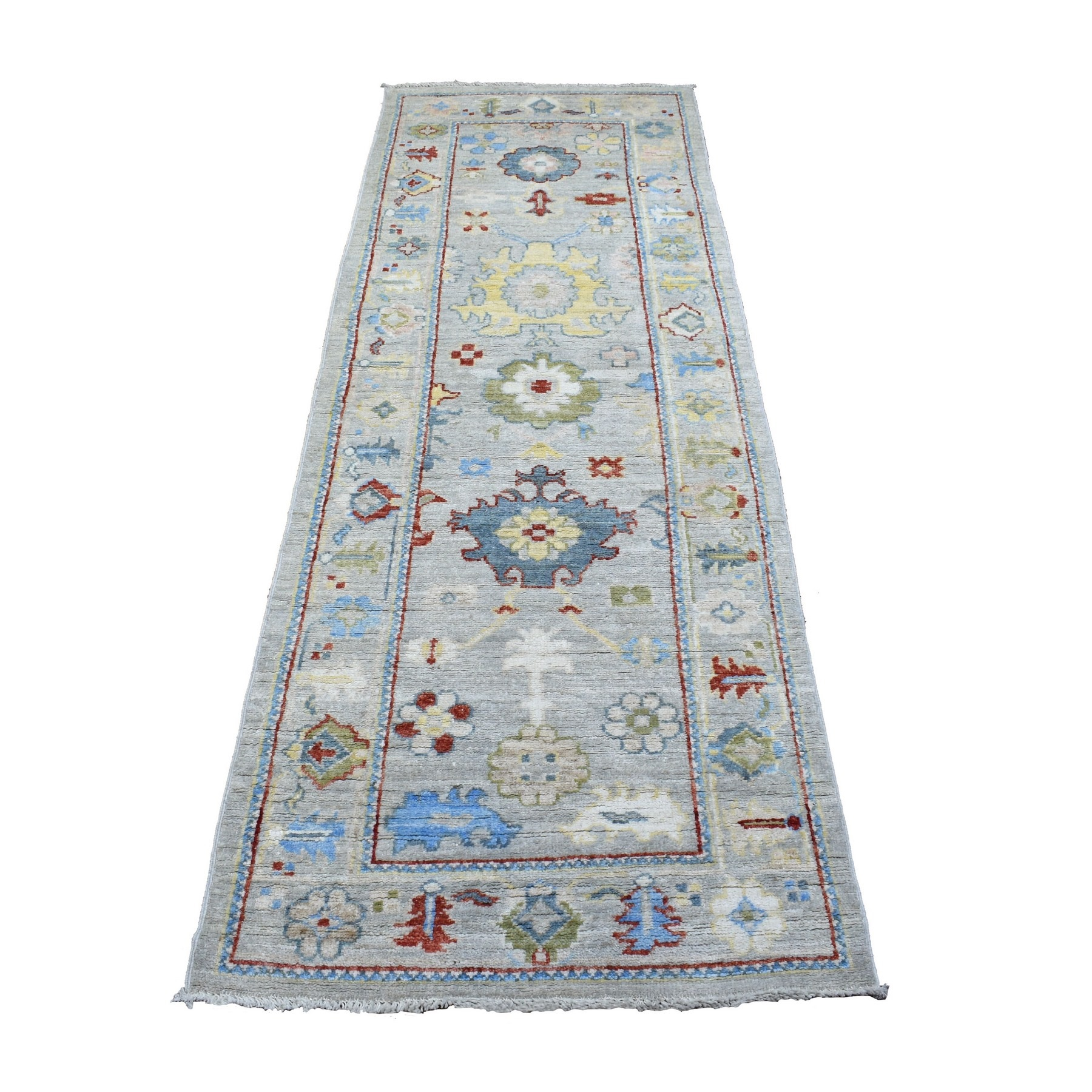 Agra And Turkish Collection Hand Knotted Grey Rug No: 1136798