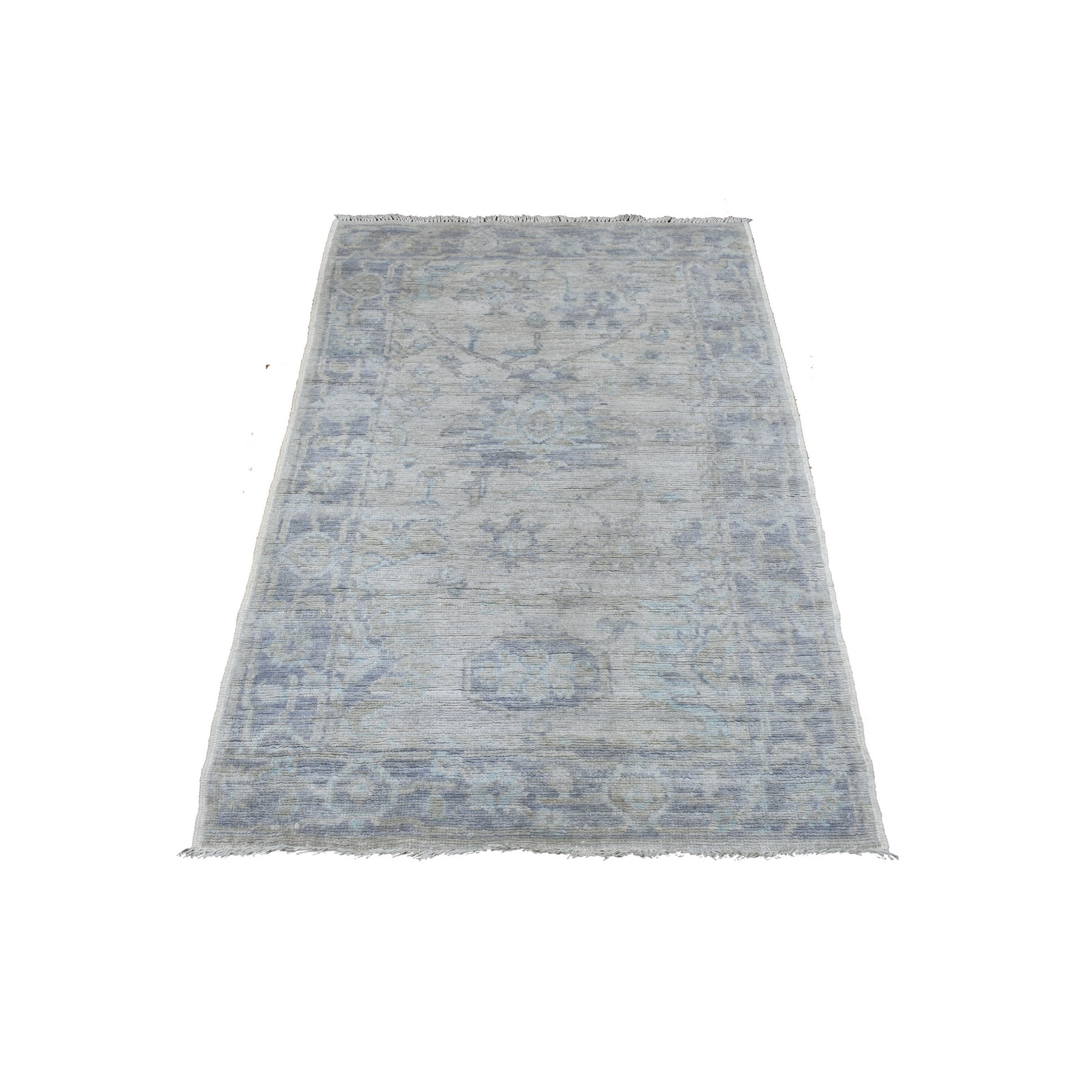 Agra And Turkish Collection Hand Knotted Beige Rug No: 1136802