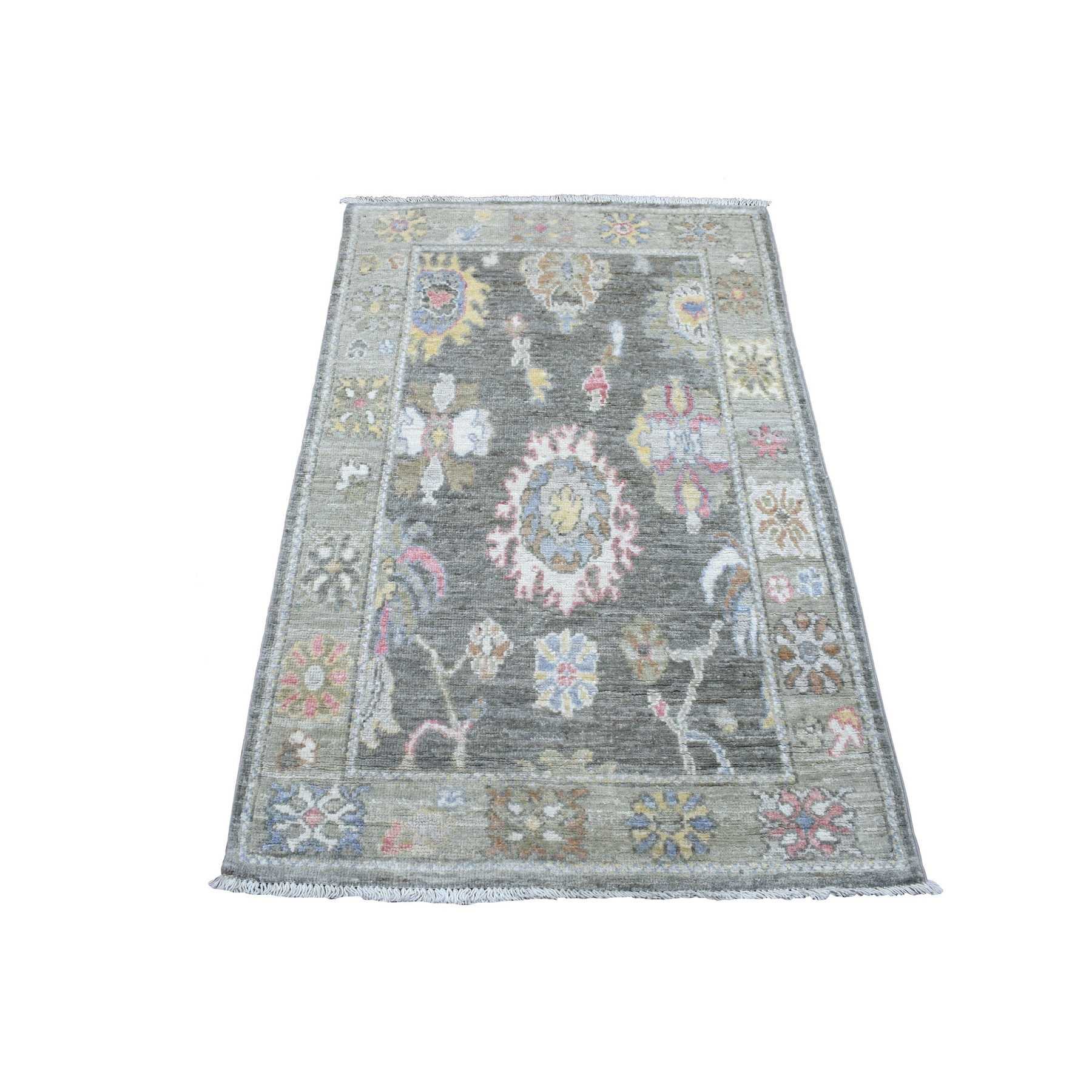 Agra And Turkish Collection Hand Knotted Grey Rug No: 1136804