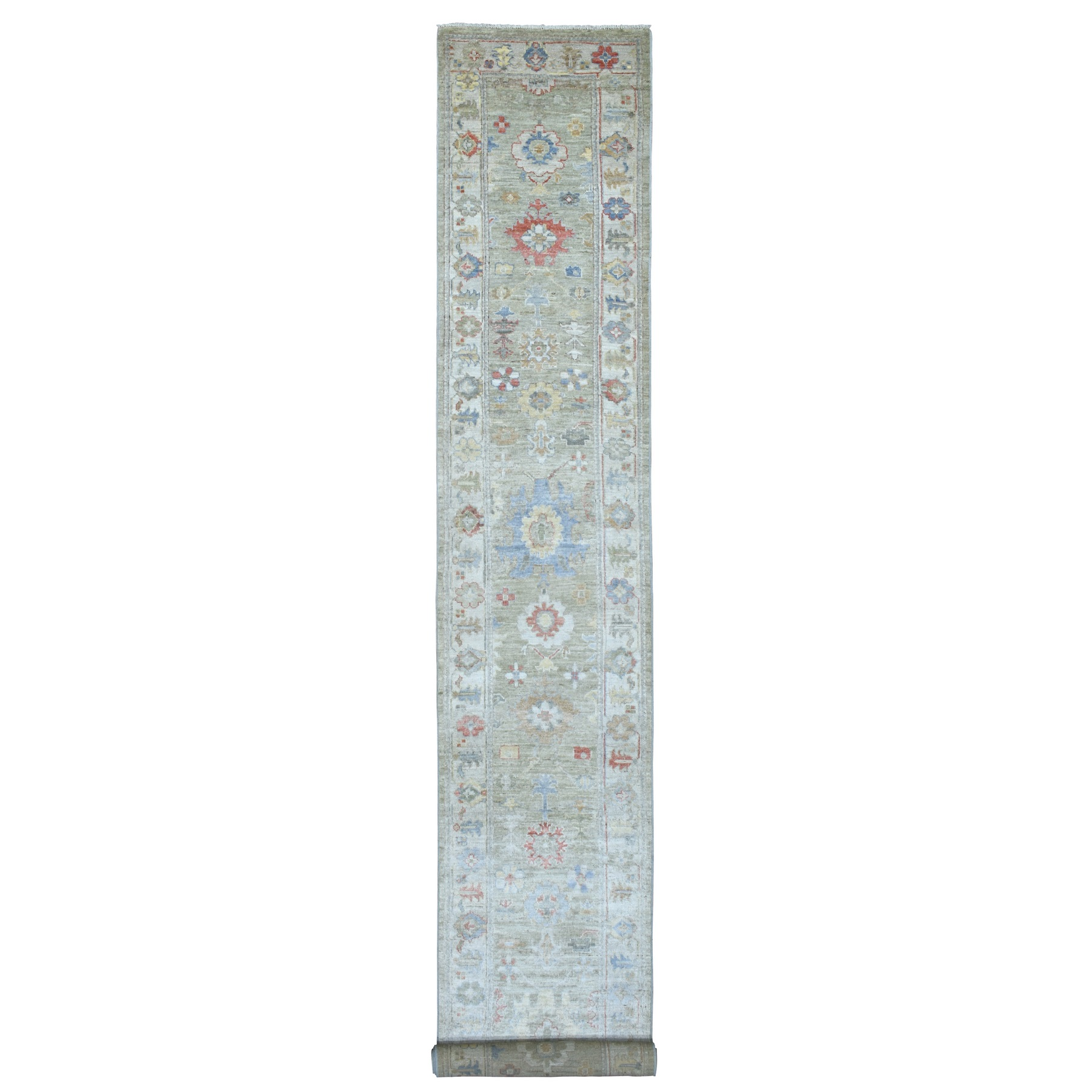Agra And Turkish Collection Hand Knotted Grey Rug No: 1136810