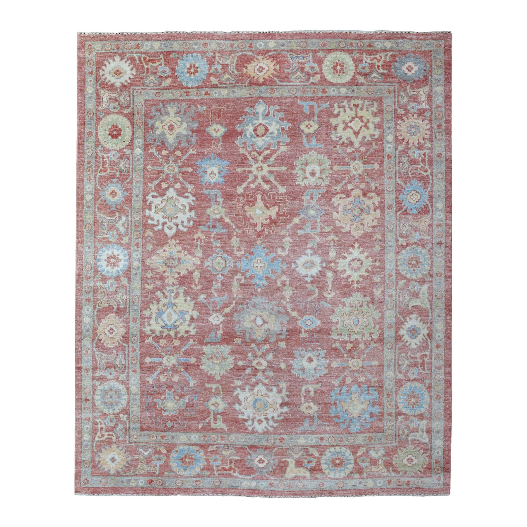 Agra And Turkish Collection Hand Knotted Pink Rug No: 1136952