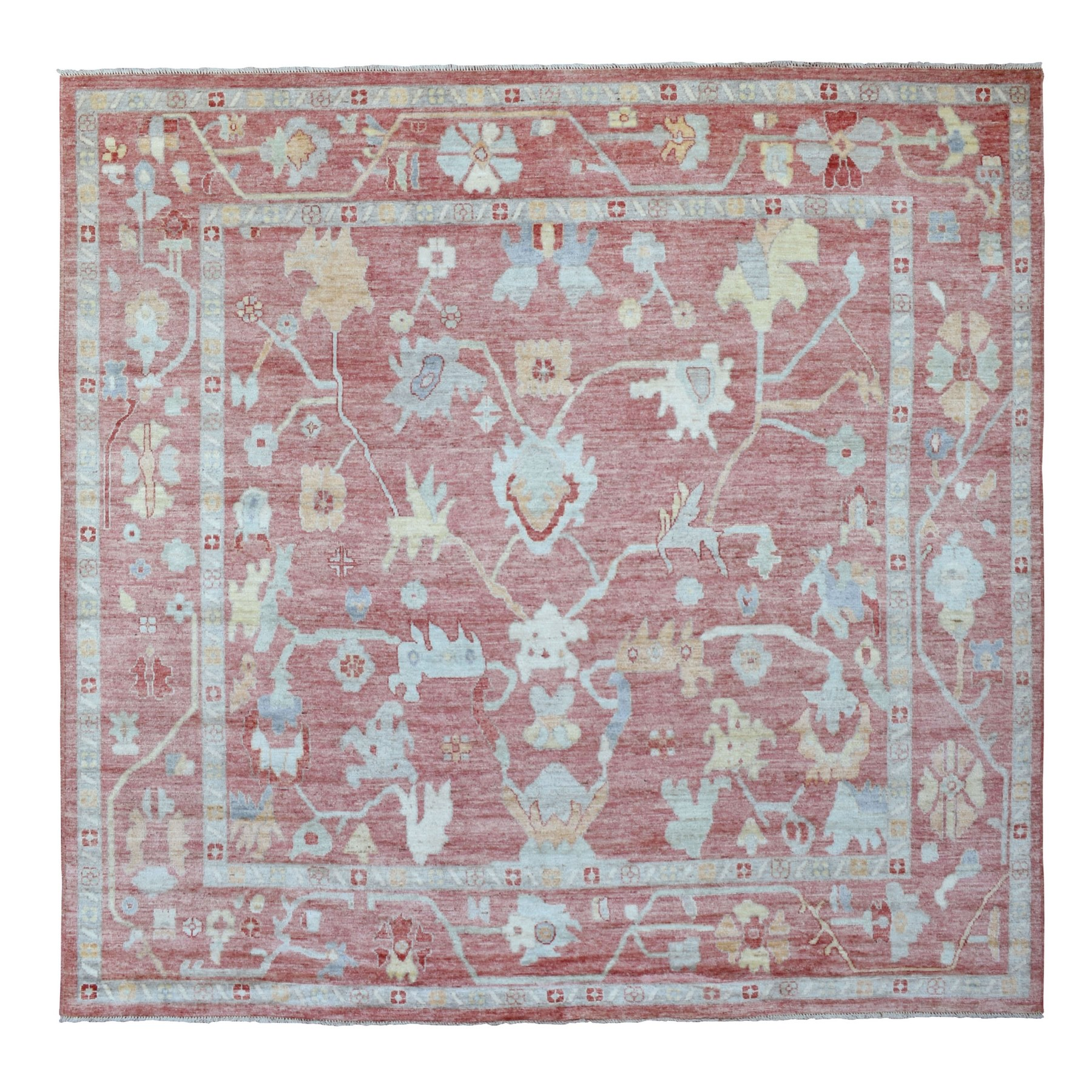 Agra And Turkish Collection Hand Knotted Red Rug No: 1136970