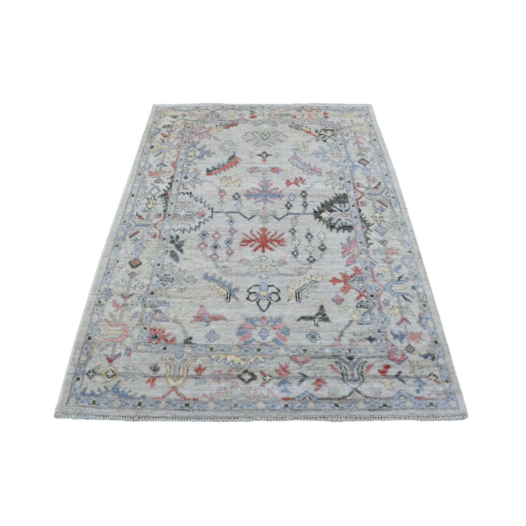 Agra And Turkish Collection Hand Knotted Beige Rug No: 1137144