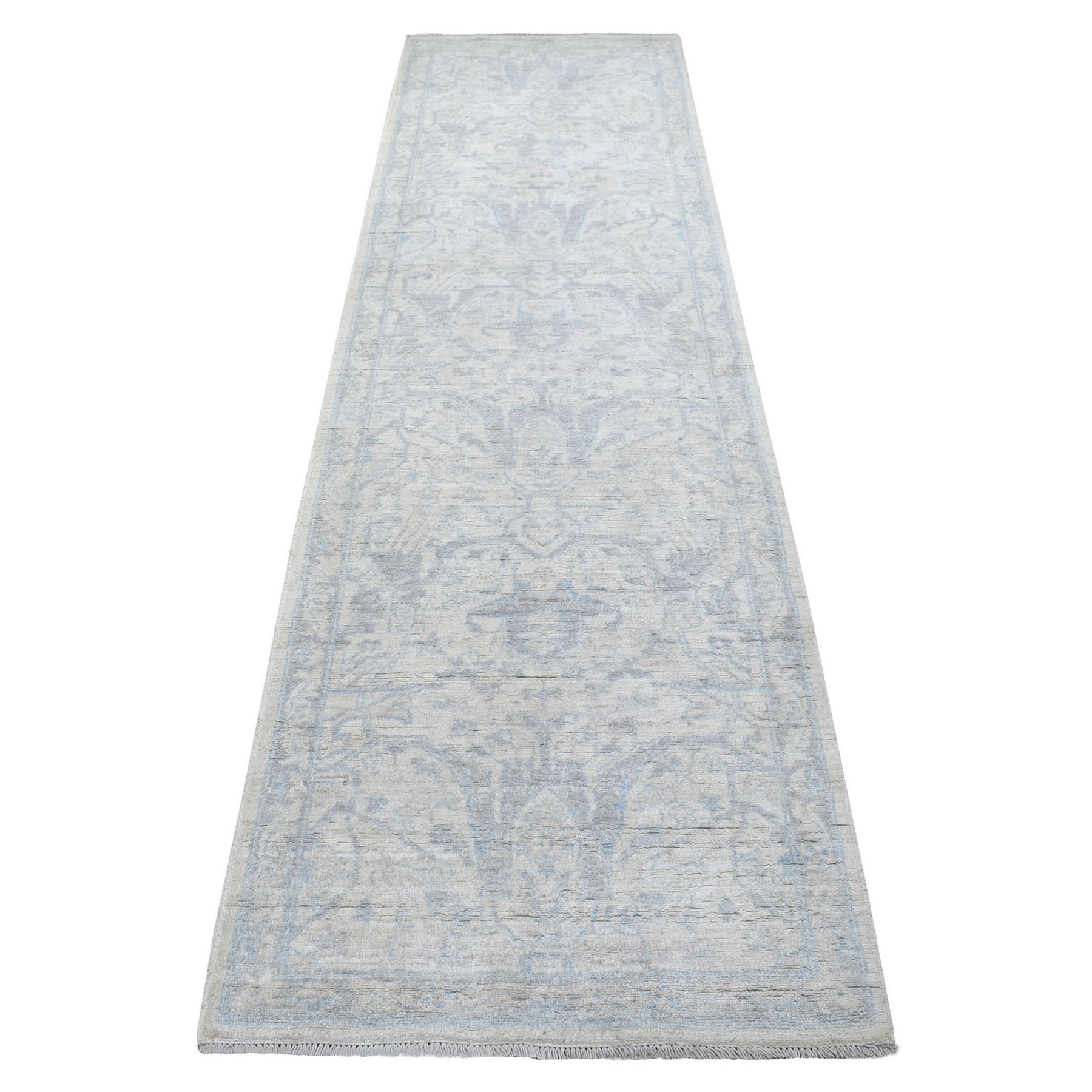 Agra And Turkish Collection Hand Knotted Ivory Rug No: 1137170