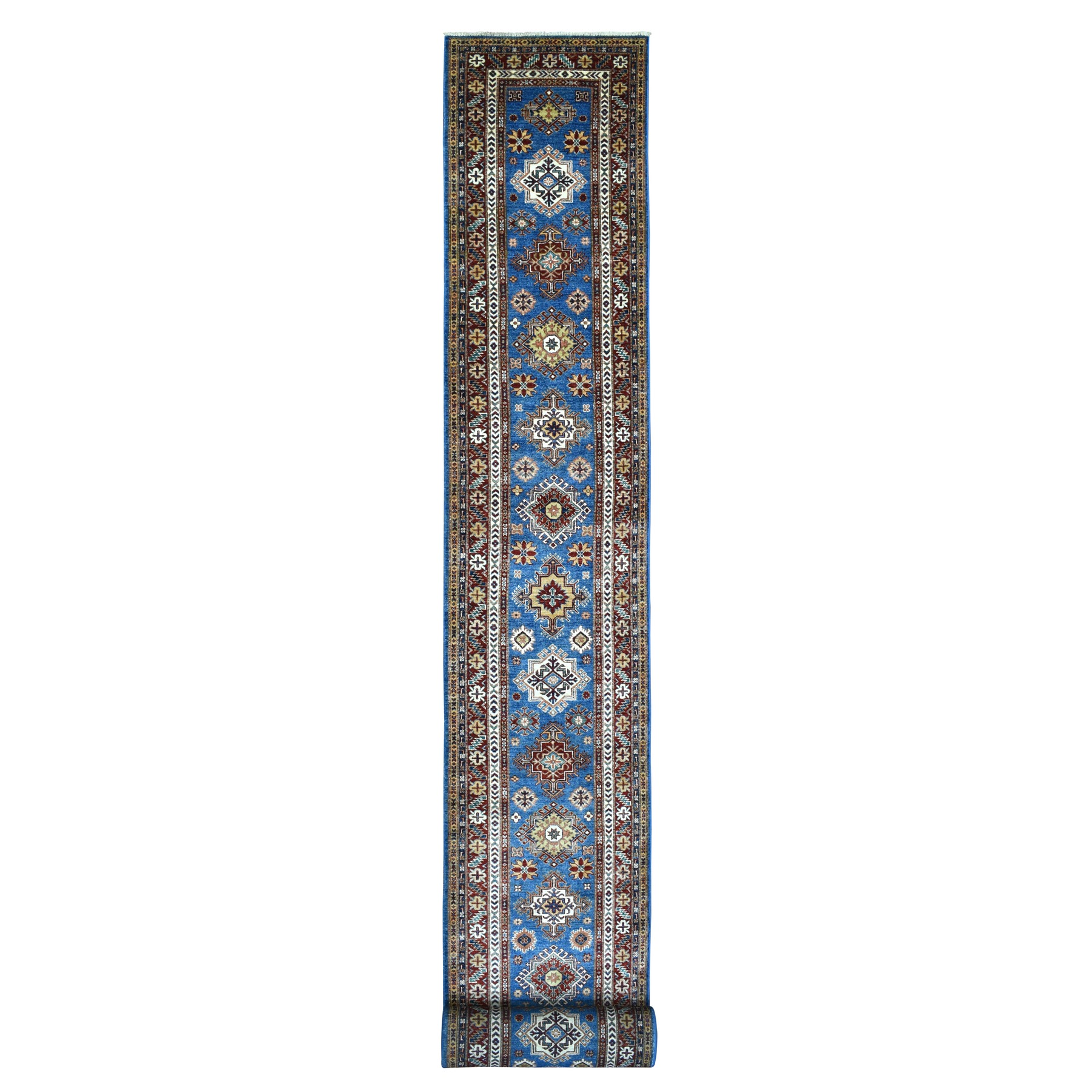 Caucasian Collection Hand Knotted Blue Rug No: 1137200