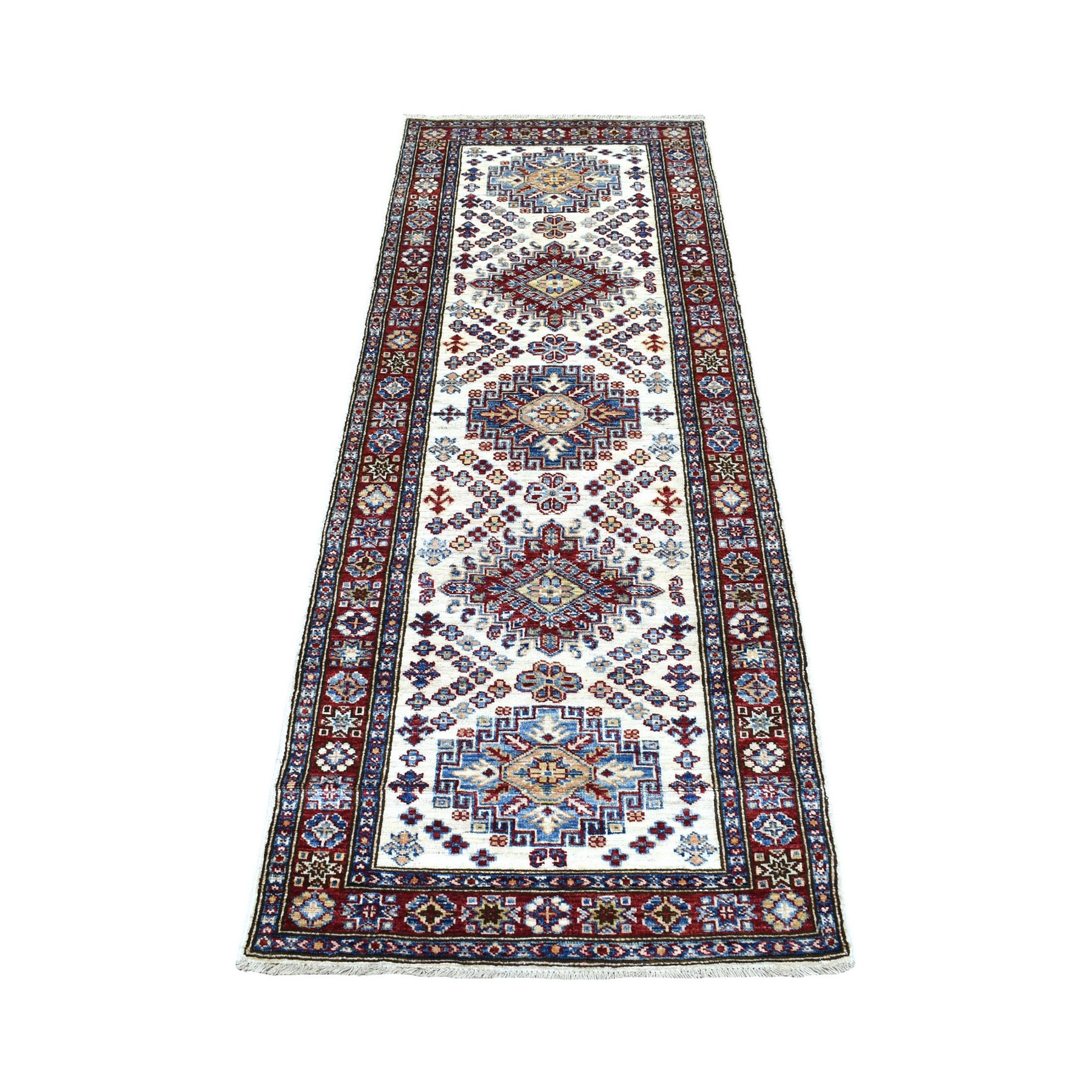 Caucasian Collection Hand Knotted Ivory Rug No: 1137310