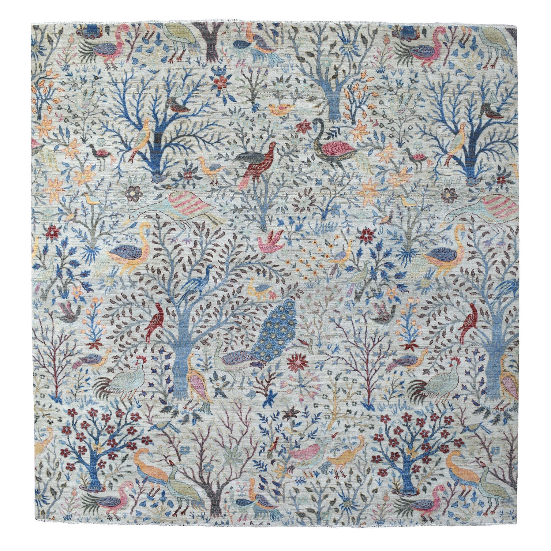 Agra And Turkish Collection Hand Knotted Grey Rug No: 1137494
