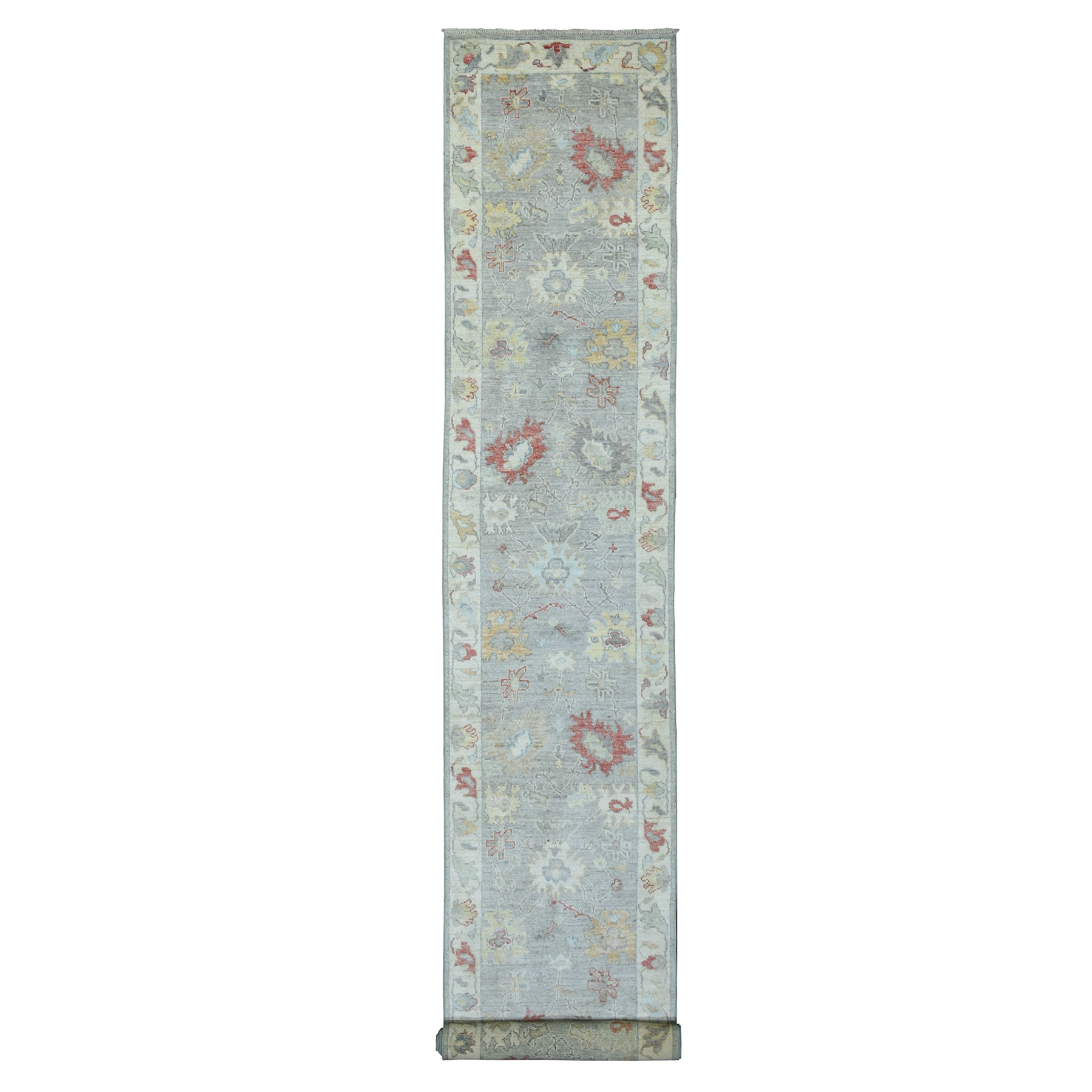 Agra And Turkish Collection Hand Knotted Grey Rug No: 1139200